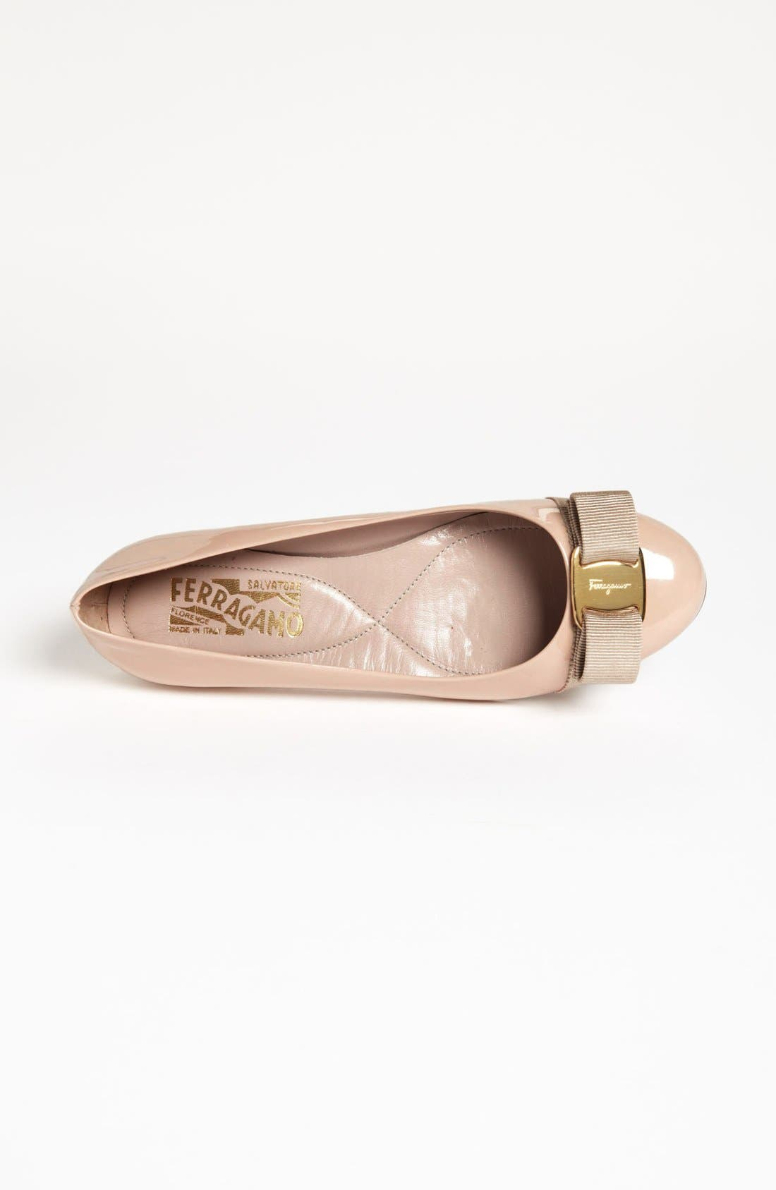 Alternate Image 3  - Salvatore Ferragamo Varina Leather Flat (Women)