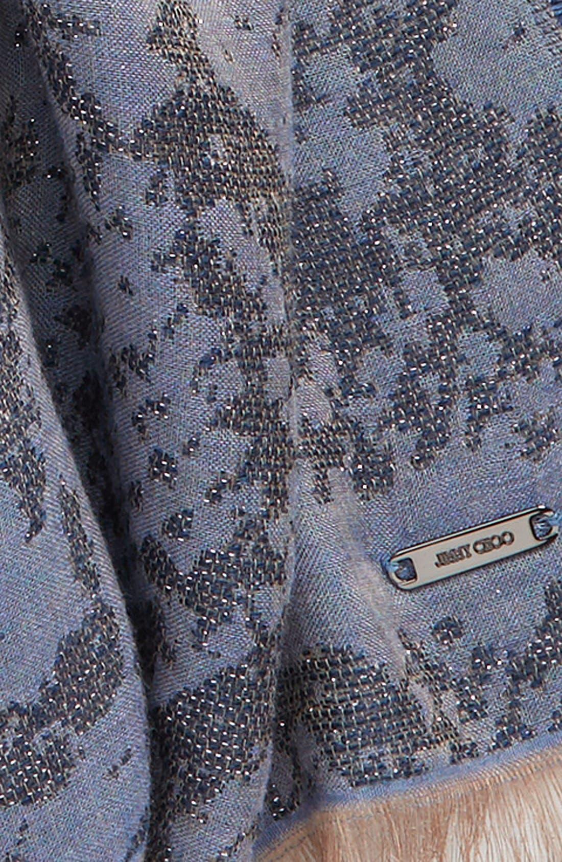 Alternate Image 3  - Jimmy Choo Metallic Pattern Woven Scarf