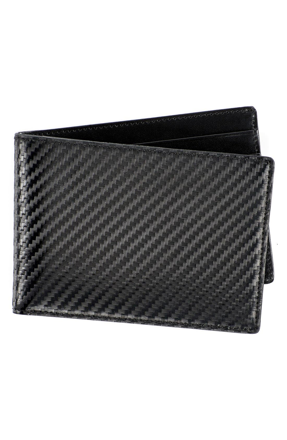WürkinStiffs Leather RFIDWallet,                         Main,                         color, Black
