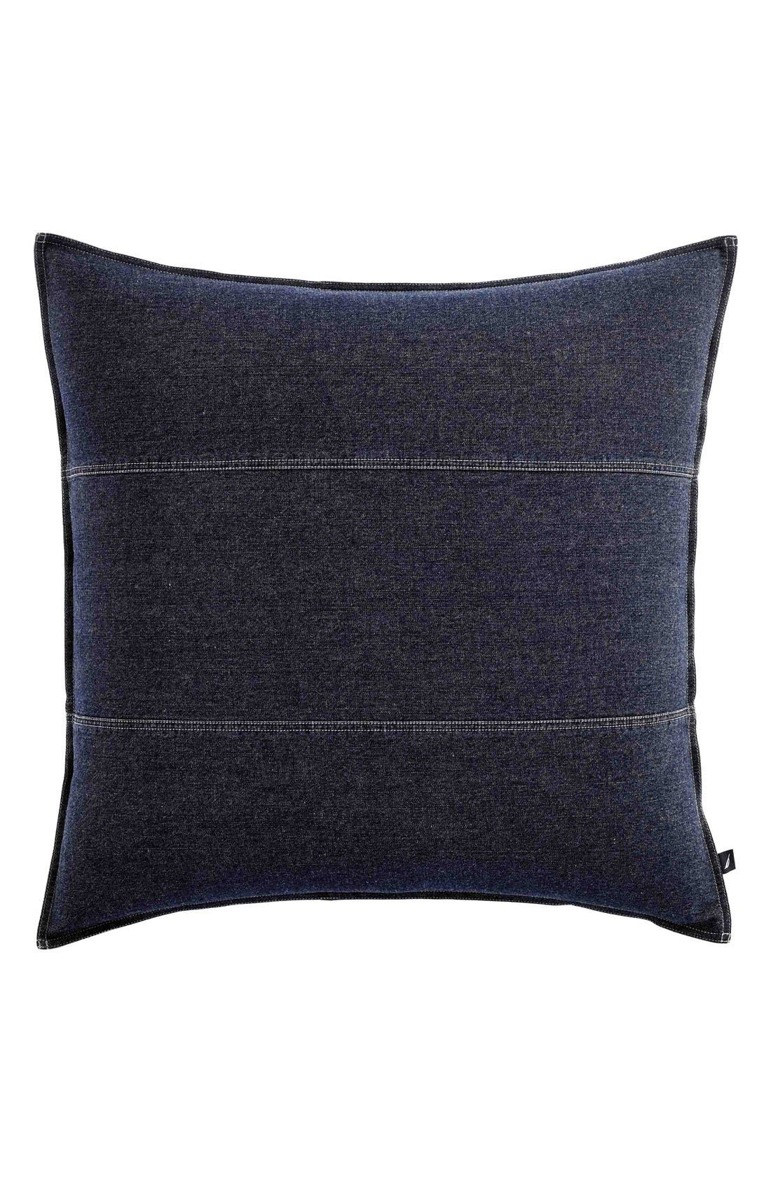 'Seaward' Euro Sham,                         Main,                         color, Denim Blue