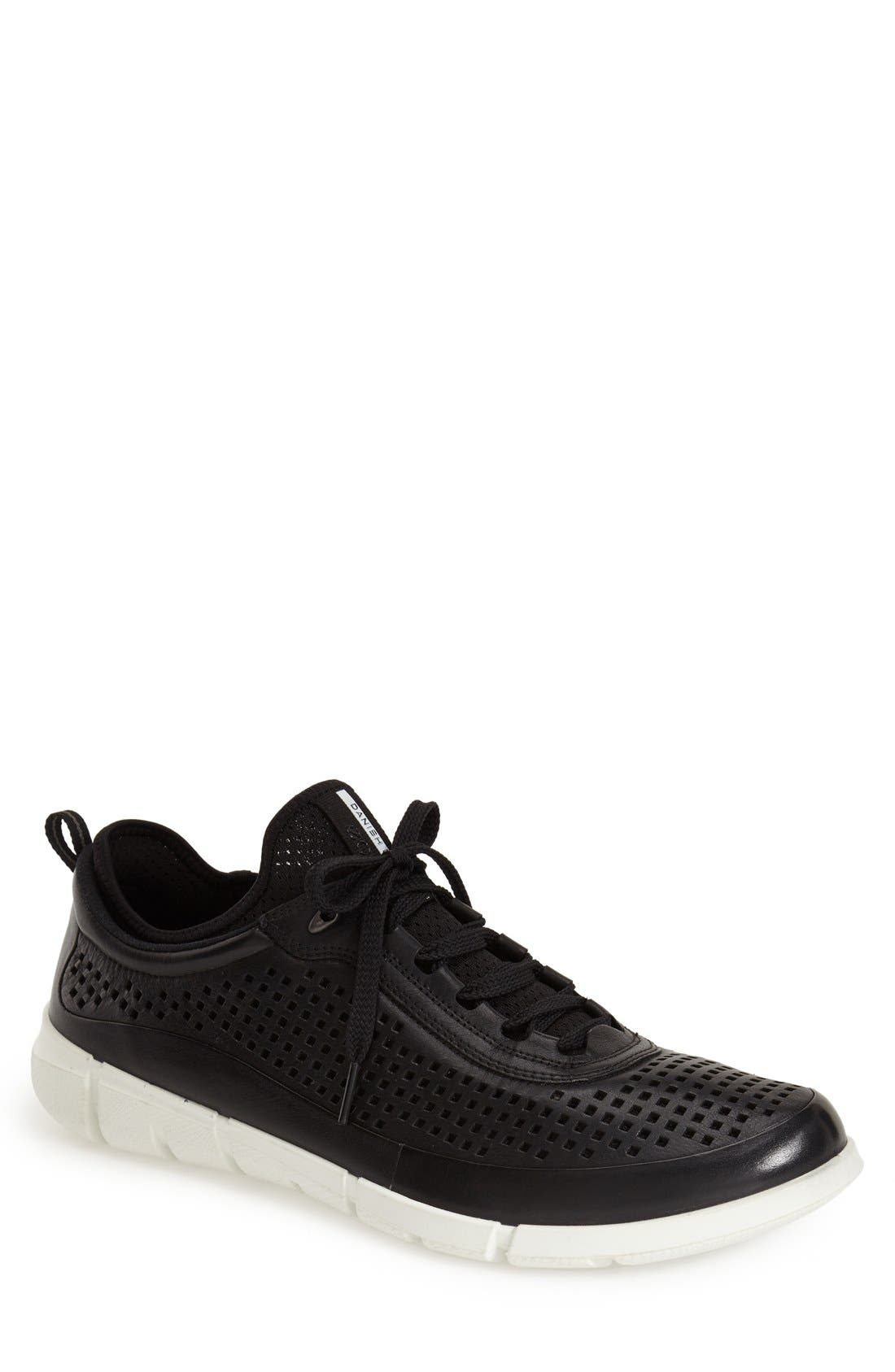 'Intrinsic' Sneaker,                         Main,                         color, Black Leather