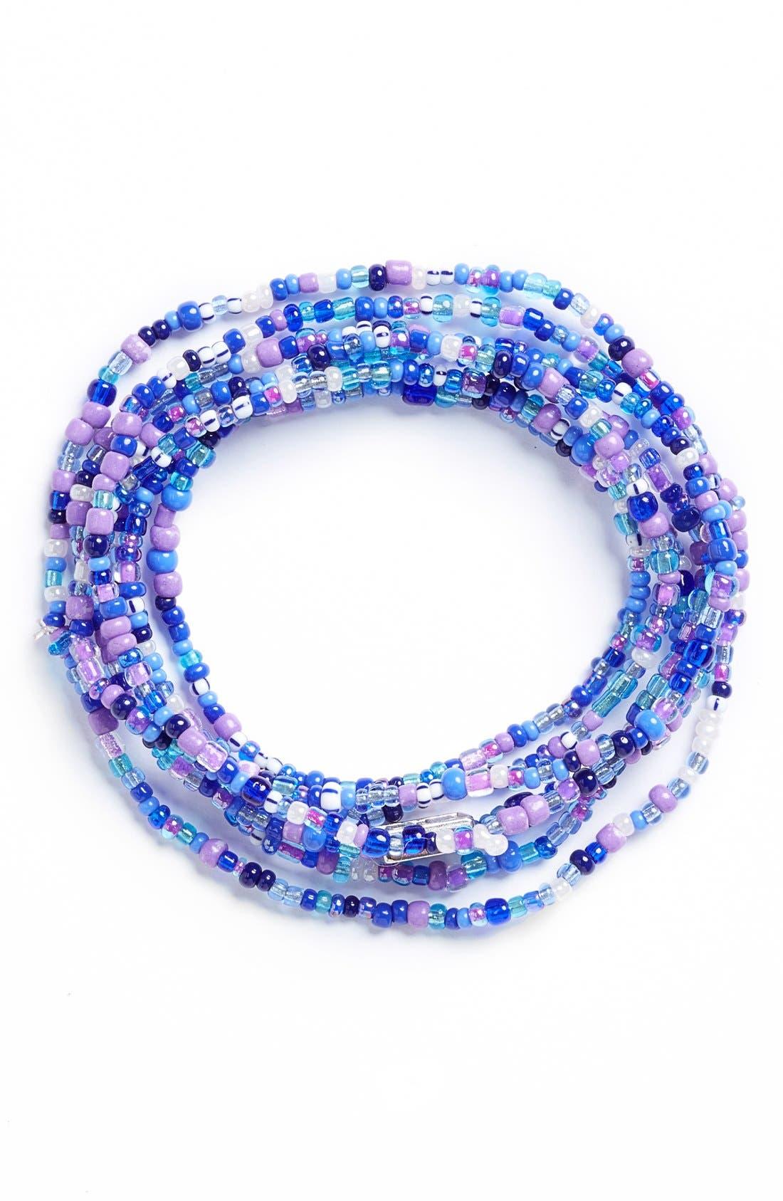 Main Image - Me to We 'Rafiki - Water' Beaded Convertible Bracelet