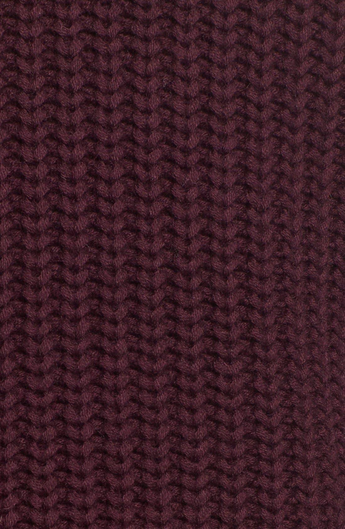 Alternate Image 5  - Pink Tartan Tubular Cuff Wool & CottonSweater