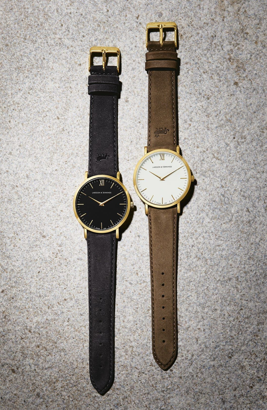 'Lugano' Leather Strap Watch, 40mm,                             Alternate thumbnail 8, color,