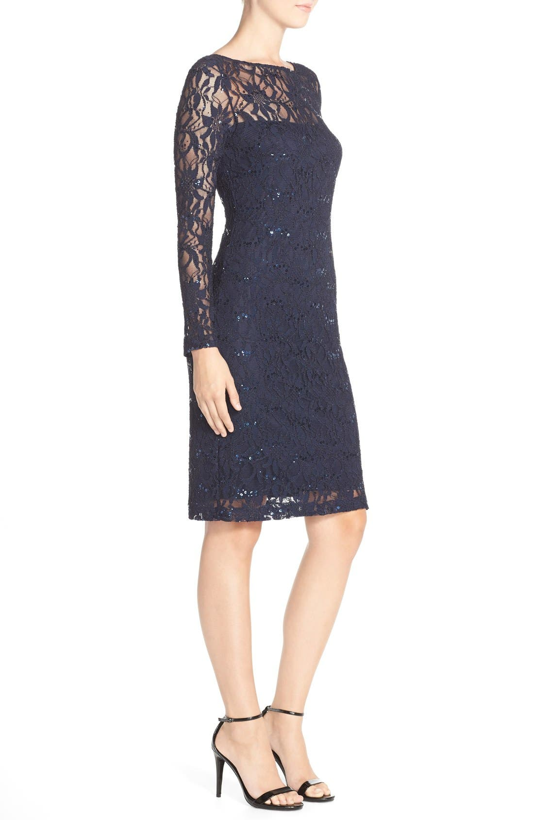 Alternate Image 3  - JS Collections Illusion Lace Dress