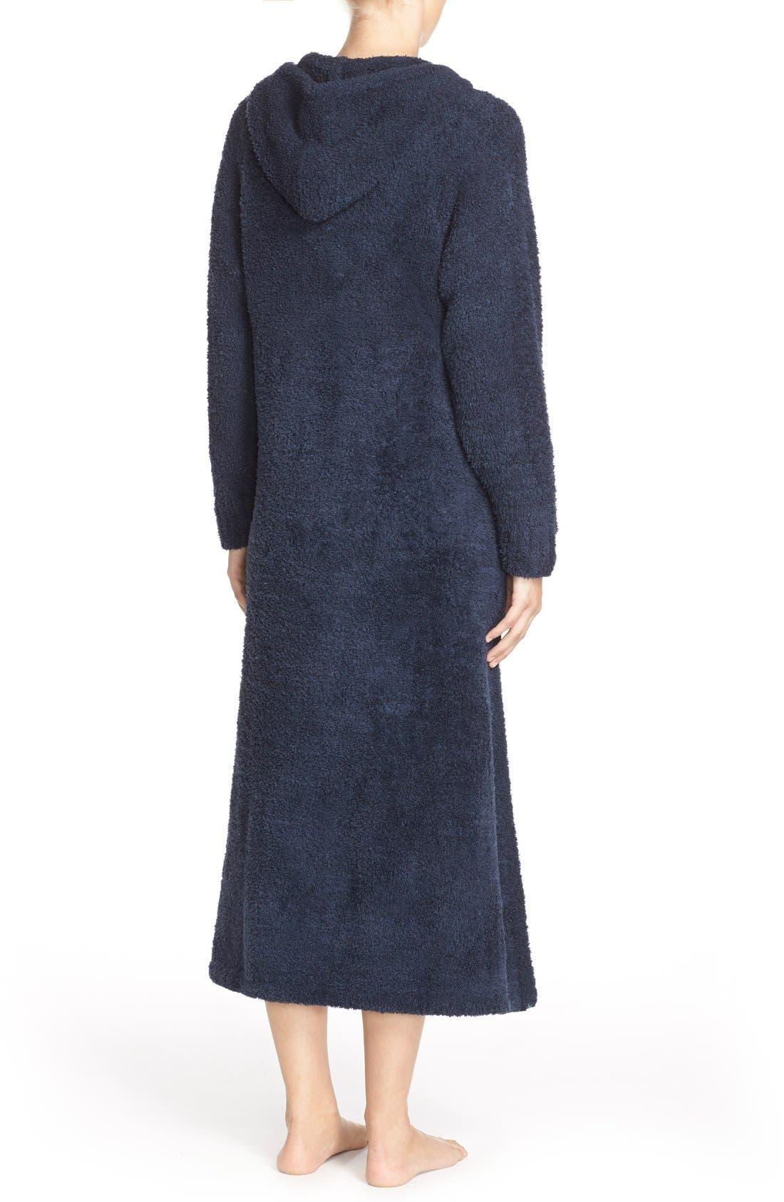Alternate Image 2  - Barefoot Dreams® CozyChic® Hooded Zip Robe