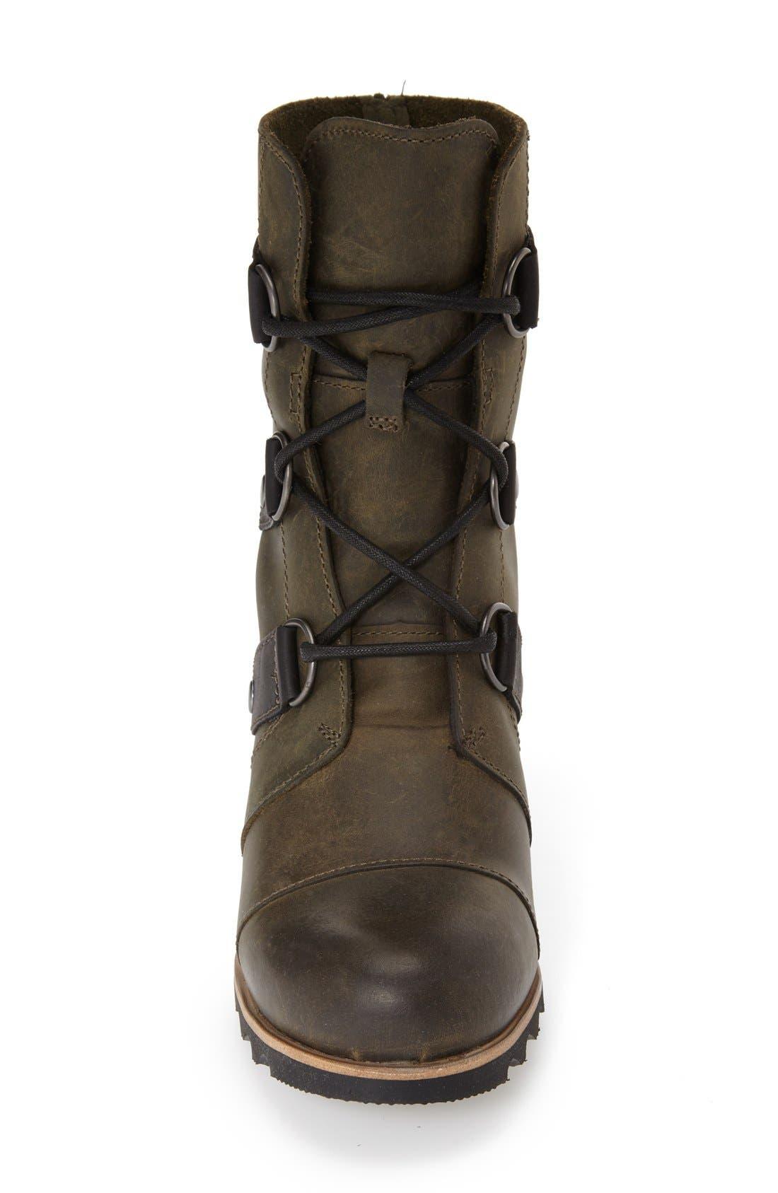 'Joan of Arctic' Waterproof Wedge Boot,                             Alternate thumbnail 3, color,                             Nori Green Leather