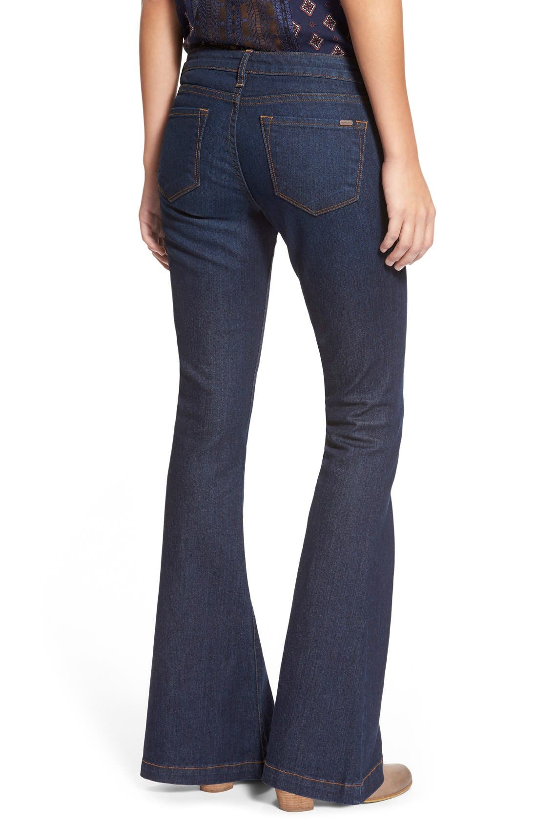 Alternate Image 2  - STSBlue 'Nikki' Flare Leg Skinny Jeans (Napa)