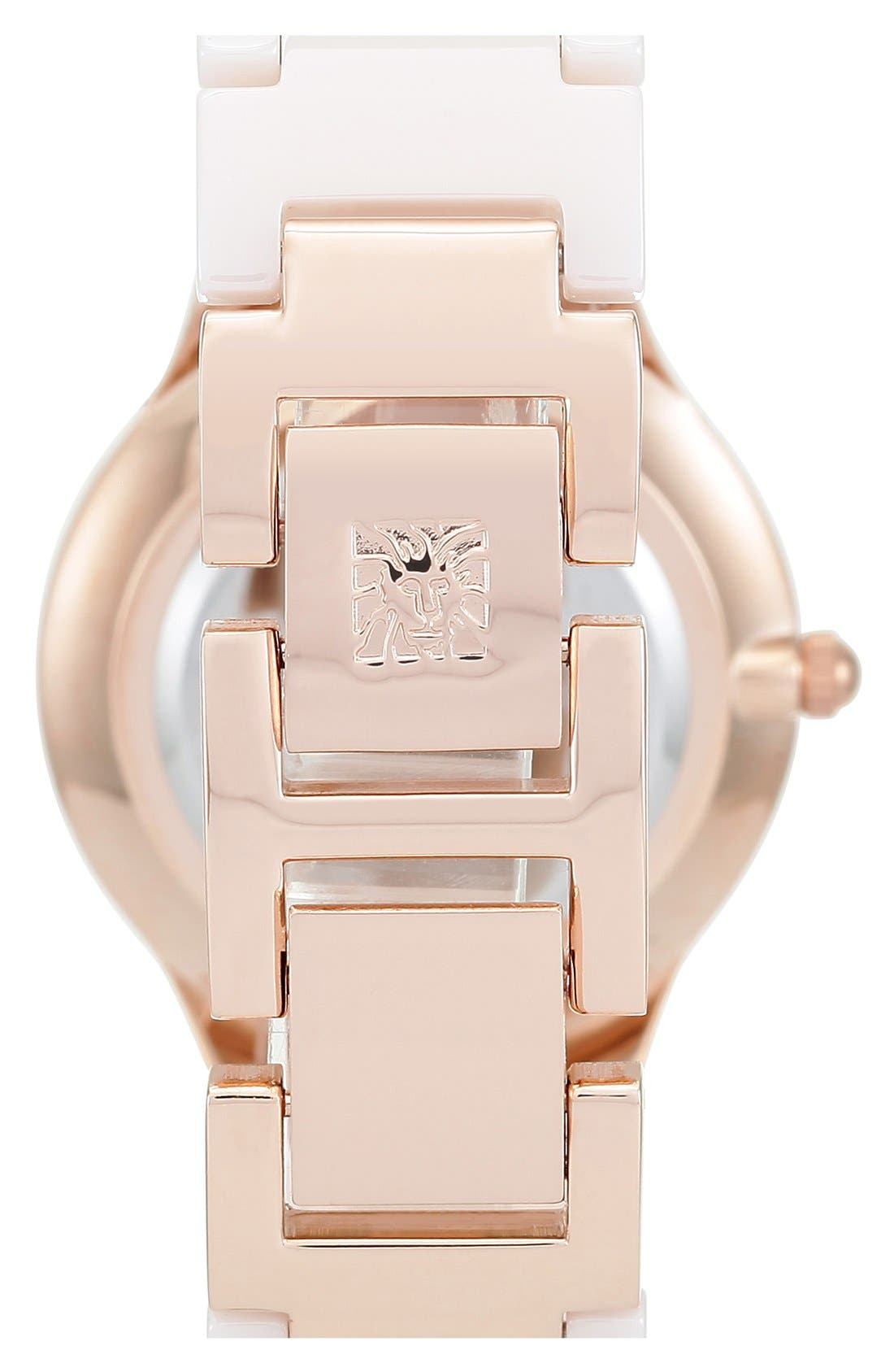 Alternate Image 2  - Anne Klein Ceramic Bracelet Watch, 30mm