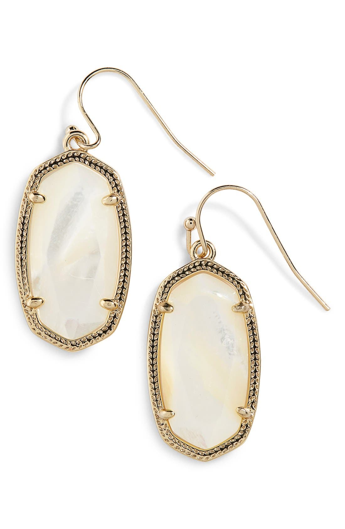 'Dani' Drop Earrings,                             Main thumbnail 1, color,                             Ivory Mother Of Pearl/ Gold