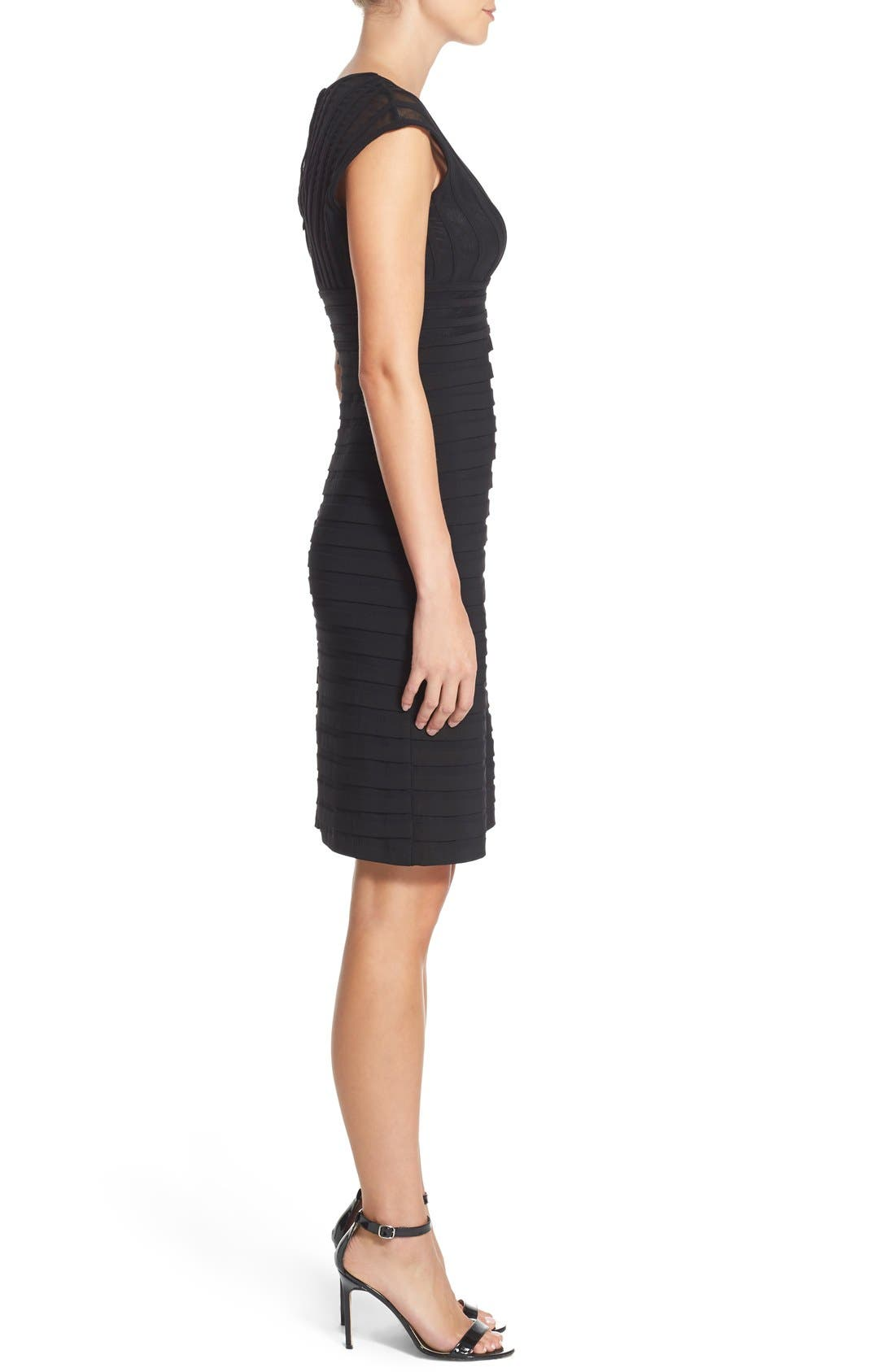 Alternate Image 3  - Adrianna Papell Shutter Pleat Jersey Sheath Dress (Regular & Petite) (Nordstrom Exclusive)