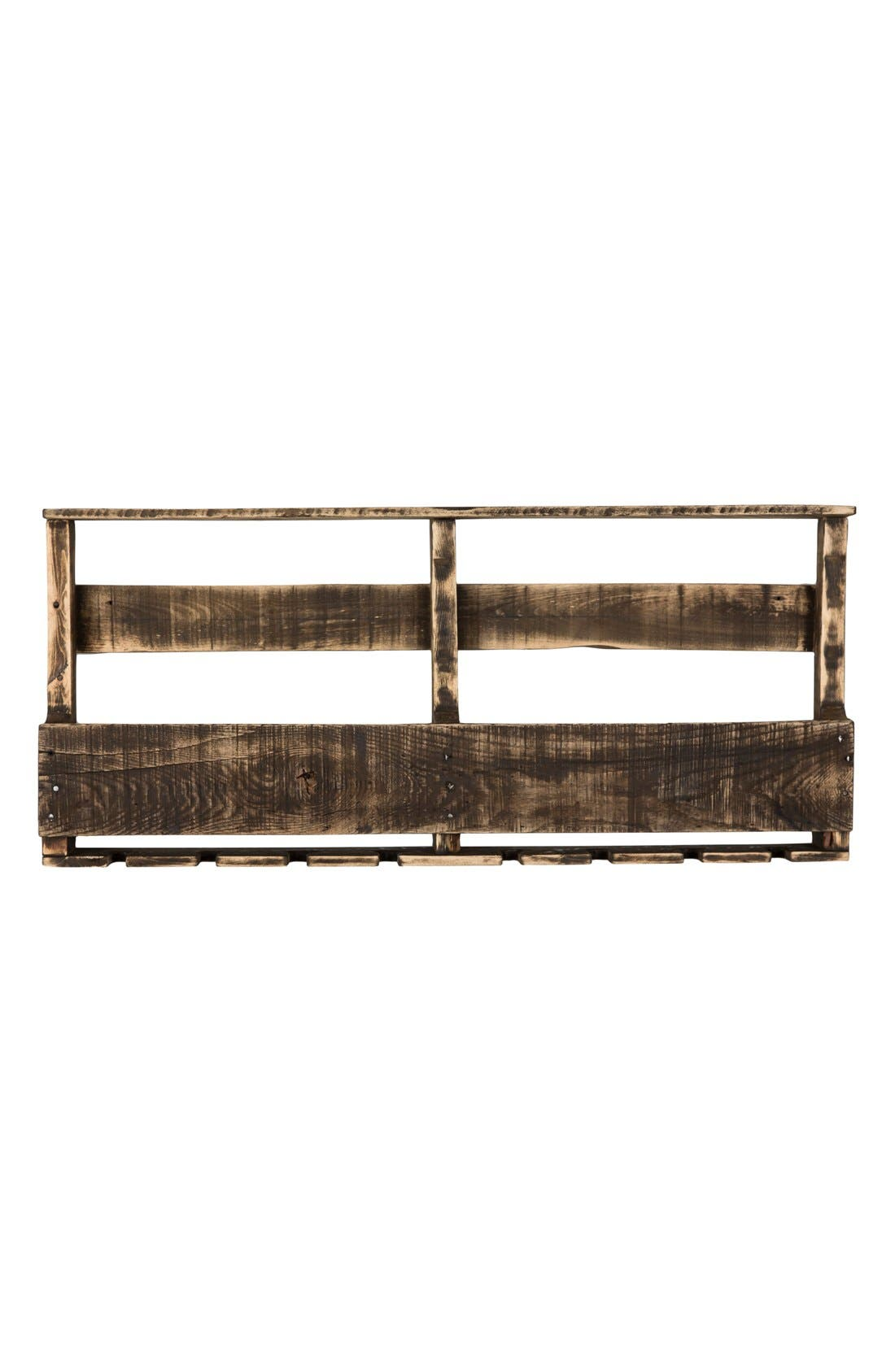 (del) Hutson Designs 'Top Shelf' RepurposedWood Wine Rack,                             Main thumbnail 1, color,                             Darkwalnut Distressed