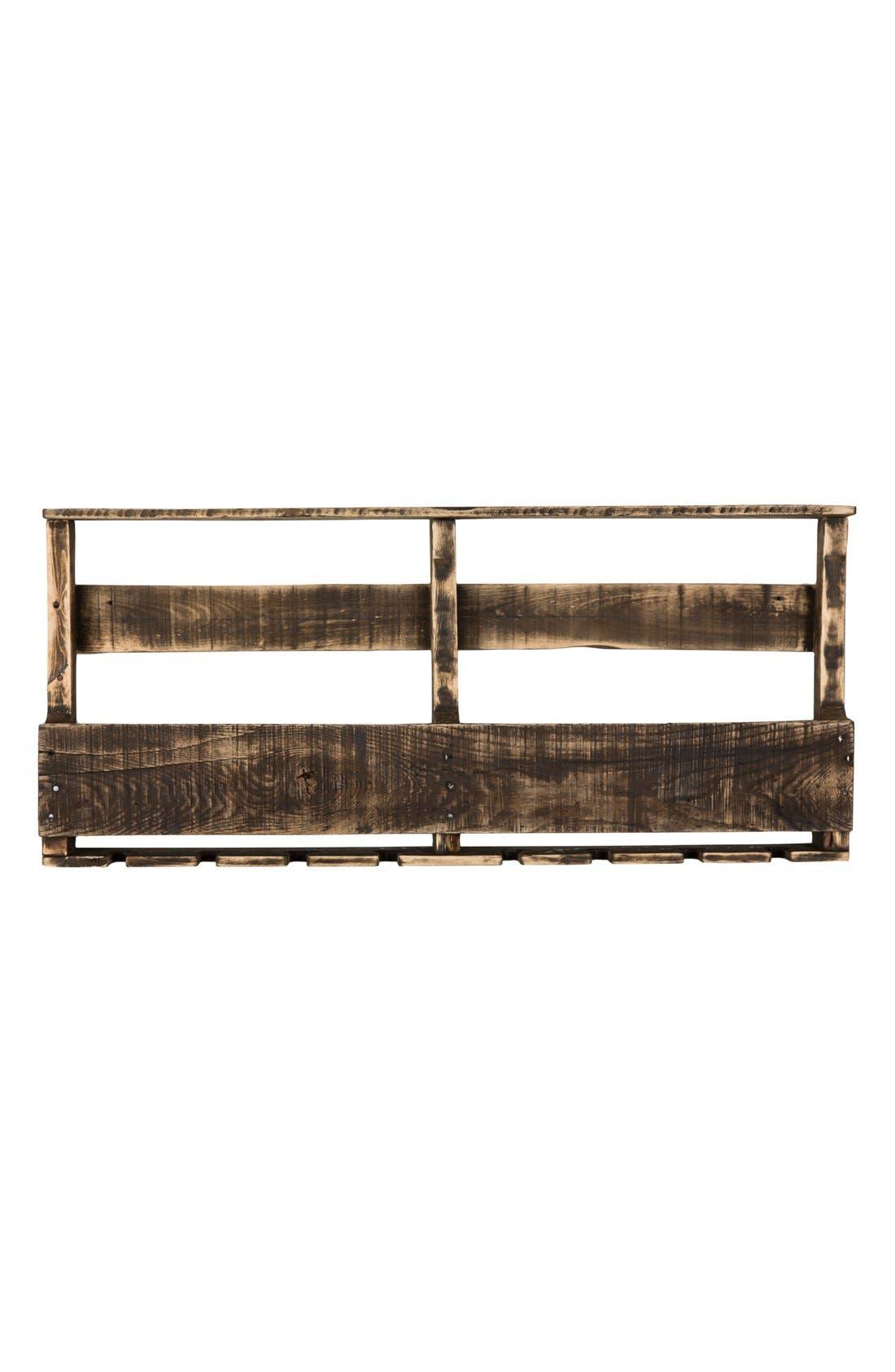 (del) Hutson Designs 'Top Shelf' RepurposedWood Wine Rack,                         Main,                         color, Darkwalnut Distressed