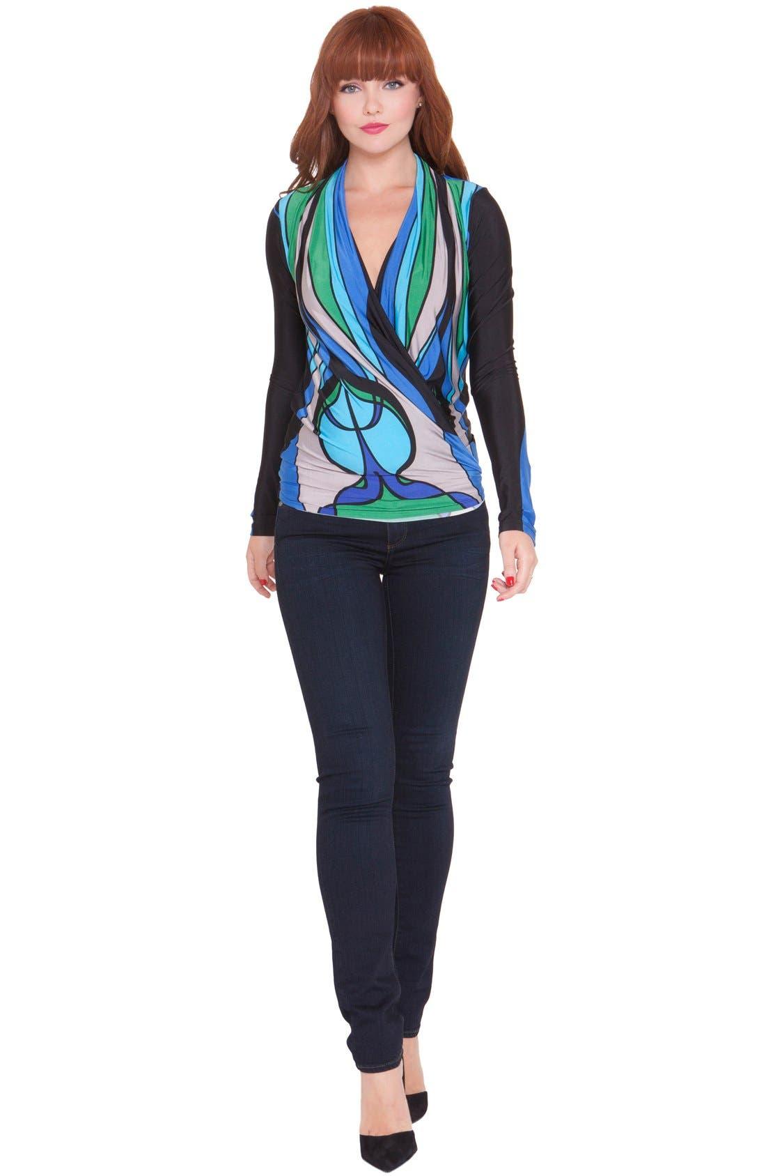 'Allison' Maternity Top,                         Main,                         color, Blue