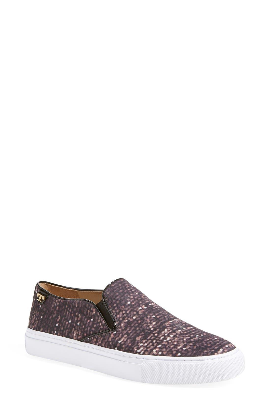 Alternate Image 1 Selected - Tory Burch Print Slip-On Sneaker (Women)