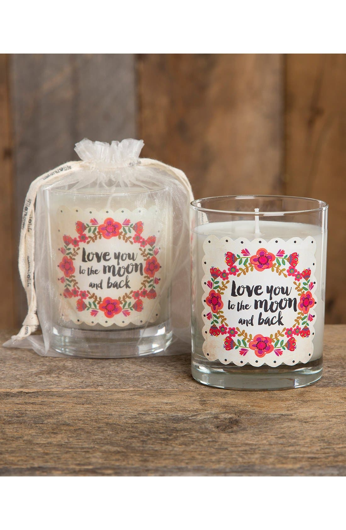 Alternate Image 2  - Natural Life 'Love You to the Moon and Back' Pink Candle