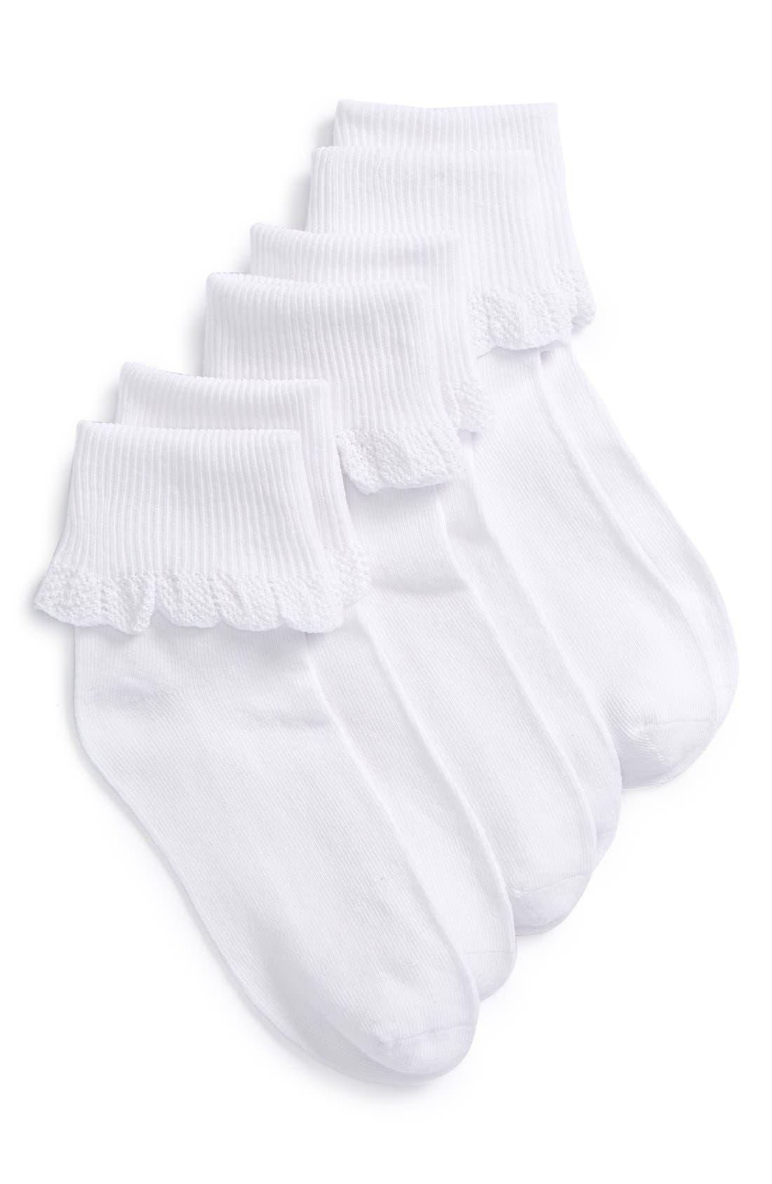 Main Image - Ruby & Bloom 3-Pack Socks (Baby, Walker, Toddler, Little Kid and Big Kid)