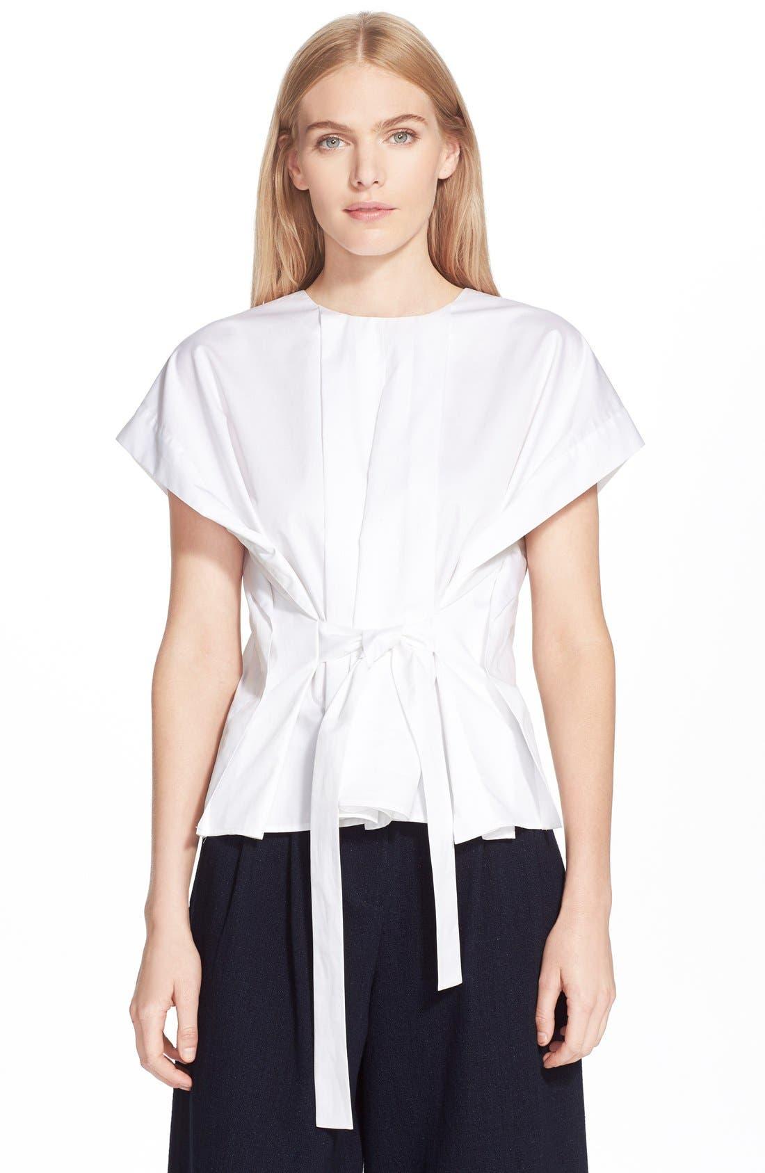 Main Image - TibiPleated Cotton Poplin Top