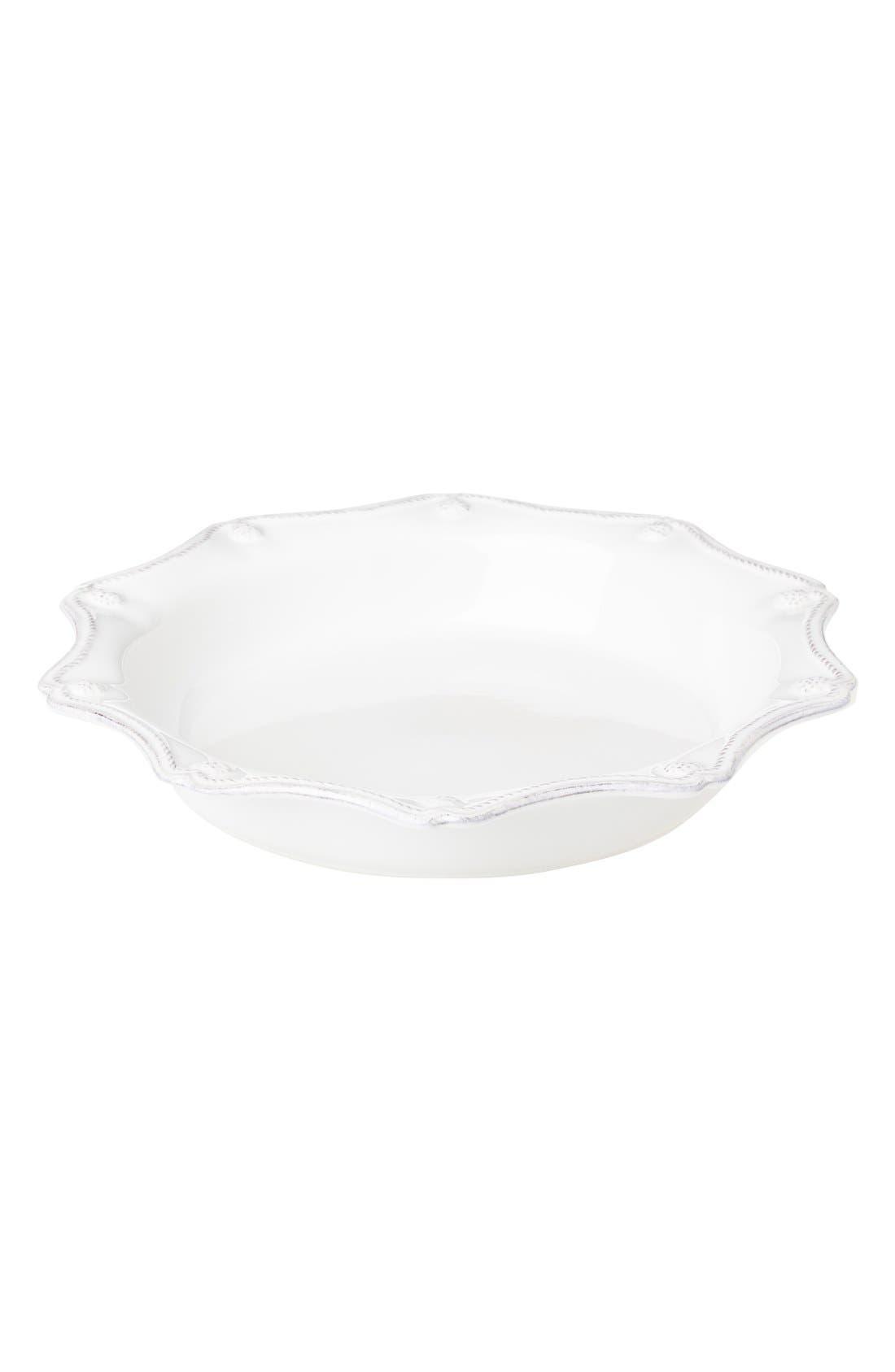 'Berry and Thread' Ceramic Pie Dish,                         Main,                         color, Whitewash