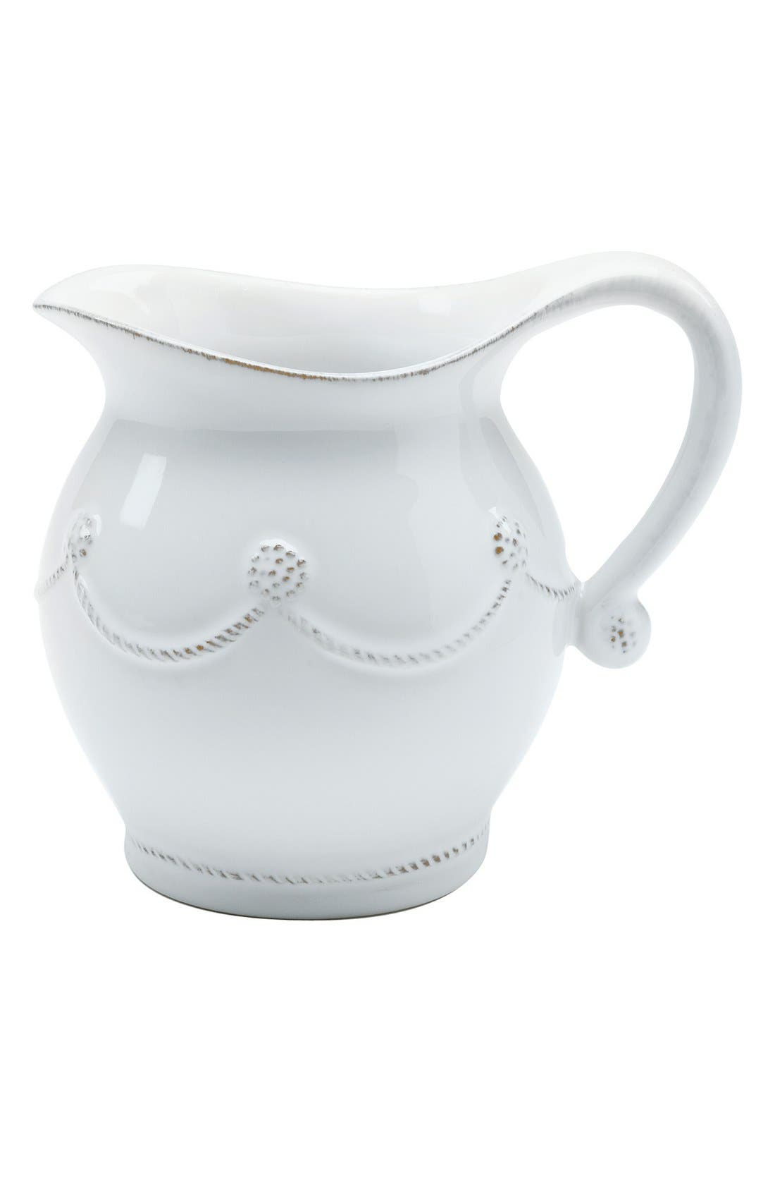 'Berry and Thread' Ceramic Creamer,                         Main,                         color, Whitewash