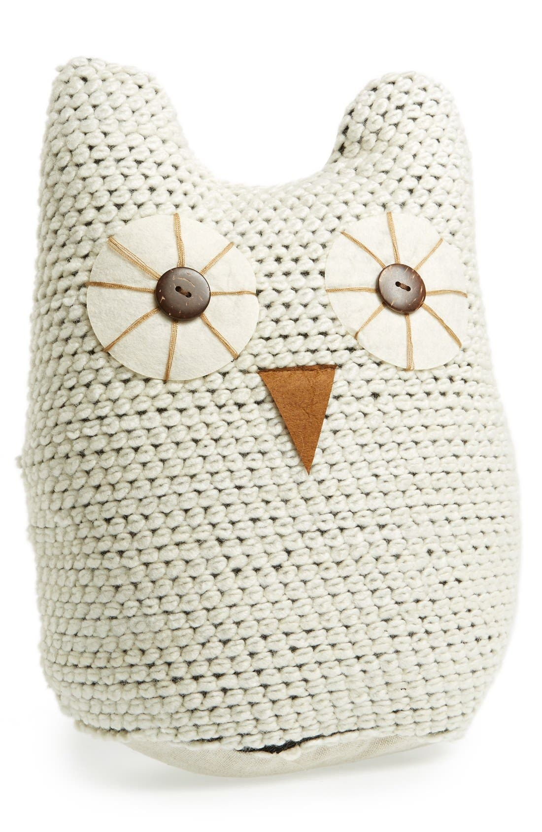 Alternate Image 1 Selected - Levtex Knit Owl Accent Pillow