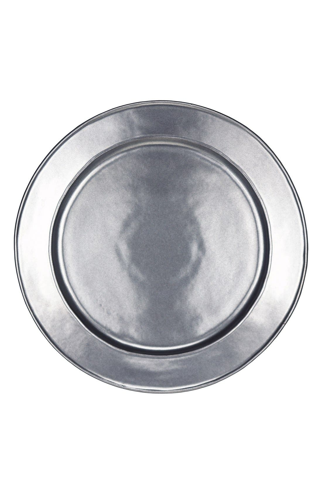 Pewter Stoneware Charger Plate,                         Main,                         color, Pewter