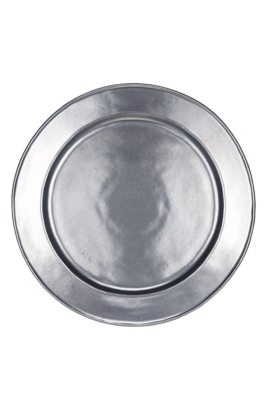 JuliskaPewter Stoneware Charger Plate