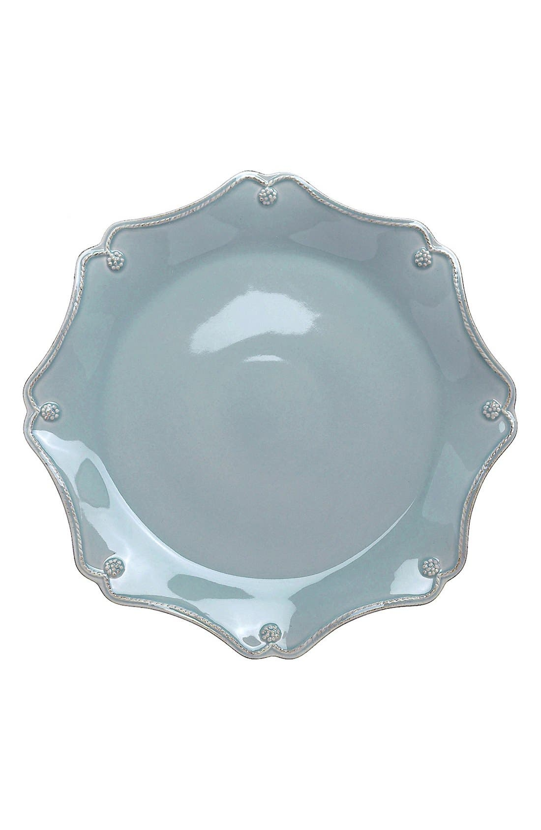 'Berry and Thread' Scallop Charger Plate,                             Main thumbnail 1, color,                             Ice Blue