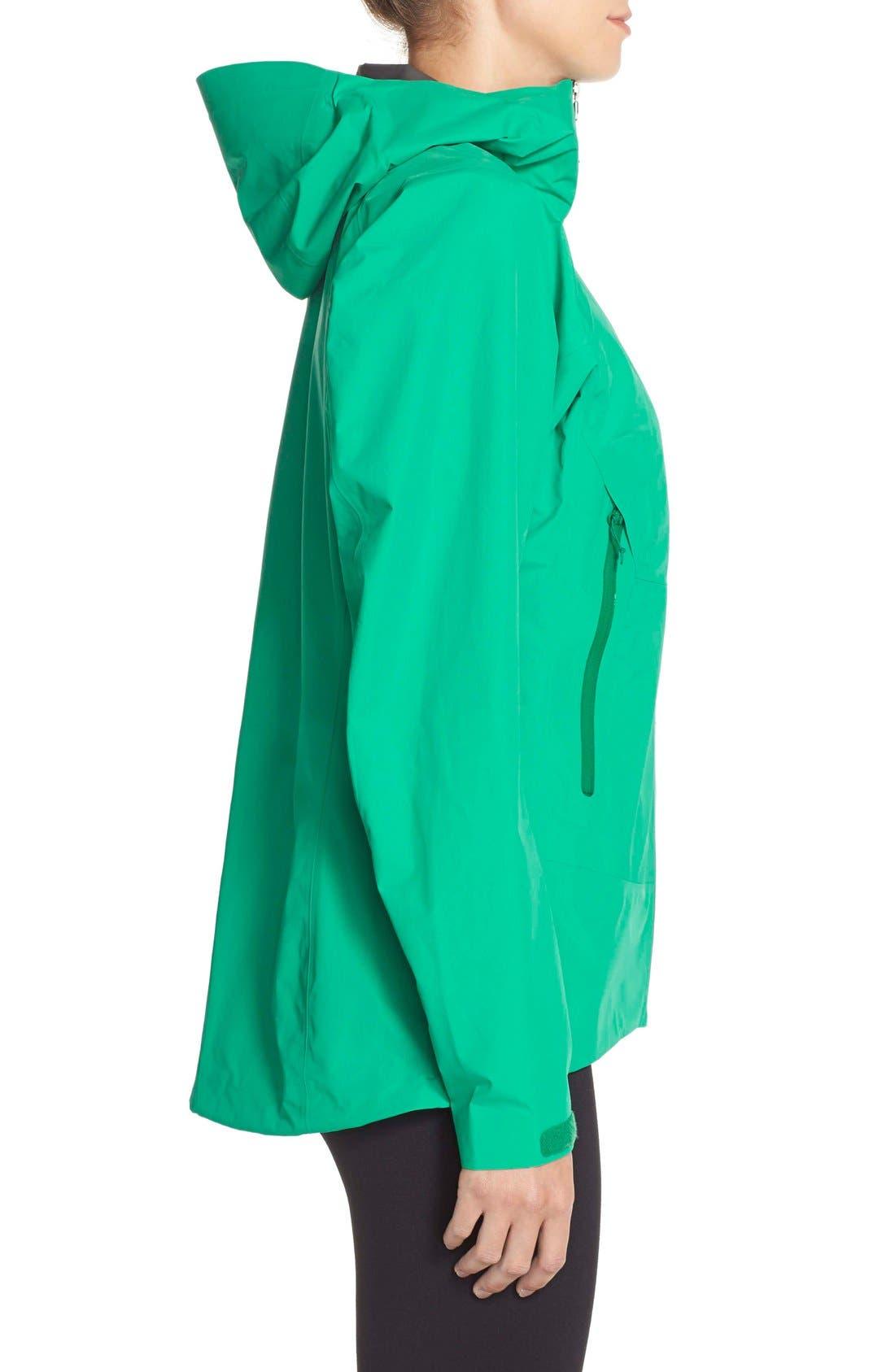 'Beta SL' Waterproof Jacket,                             Alternate thumbnail 3, color,                             Parakeet