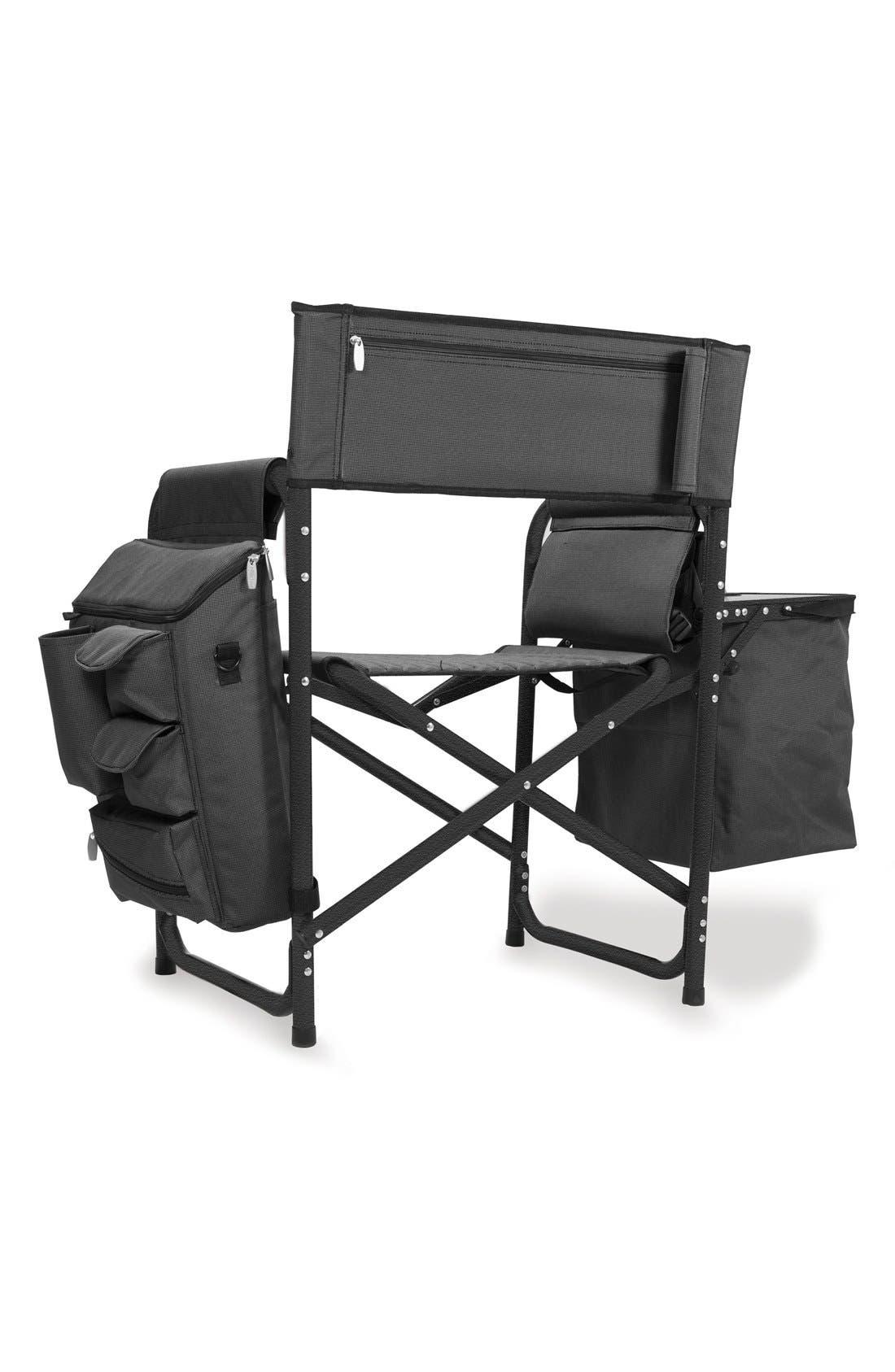 'Fusion' Lawn Chair,                             Alternate thumbnail 3, color,                             Black
