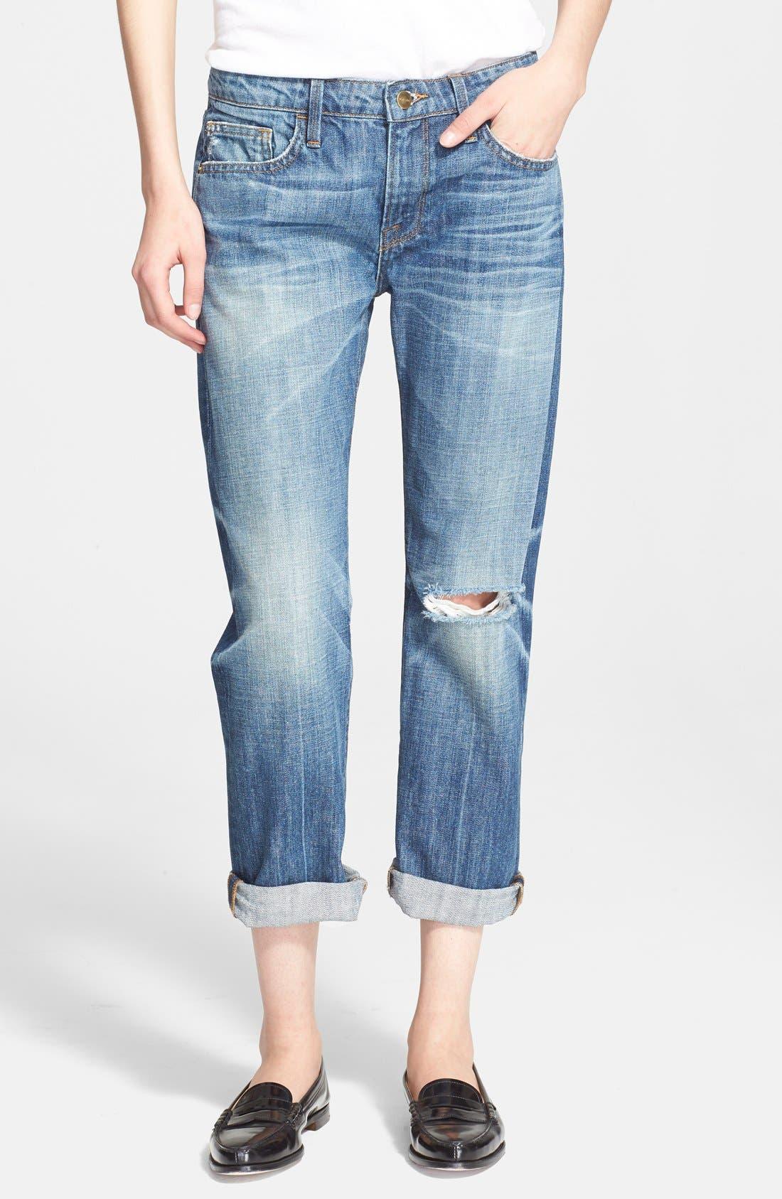 Main Image - Frame Denim 'Le Grand Garcon' Destroyed BoyfriendJeans (Wagner)