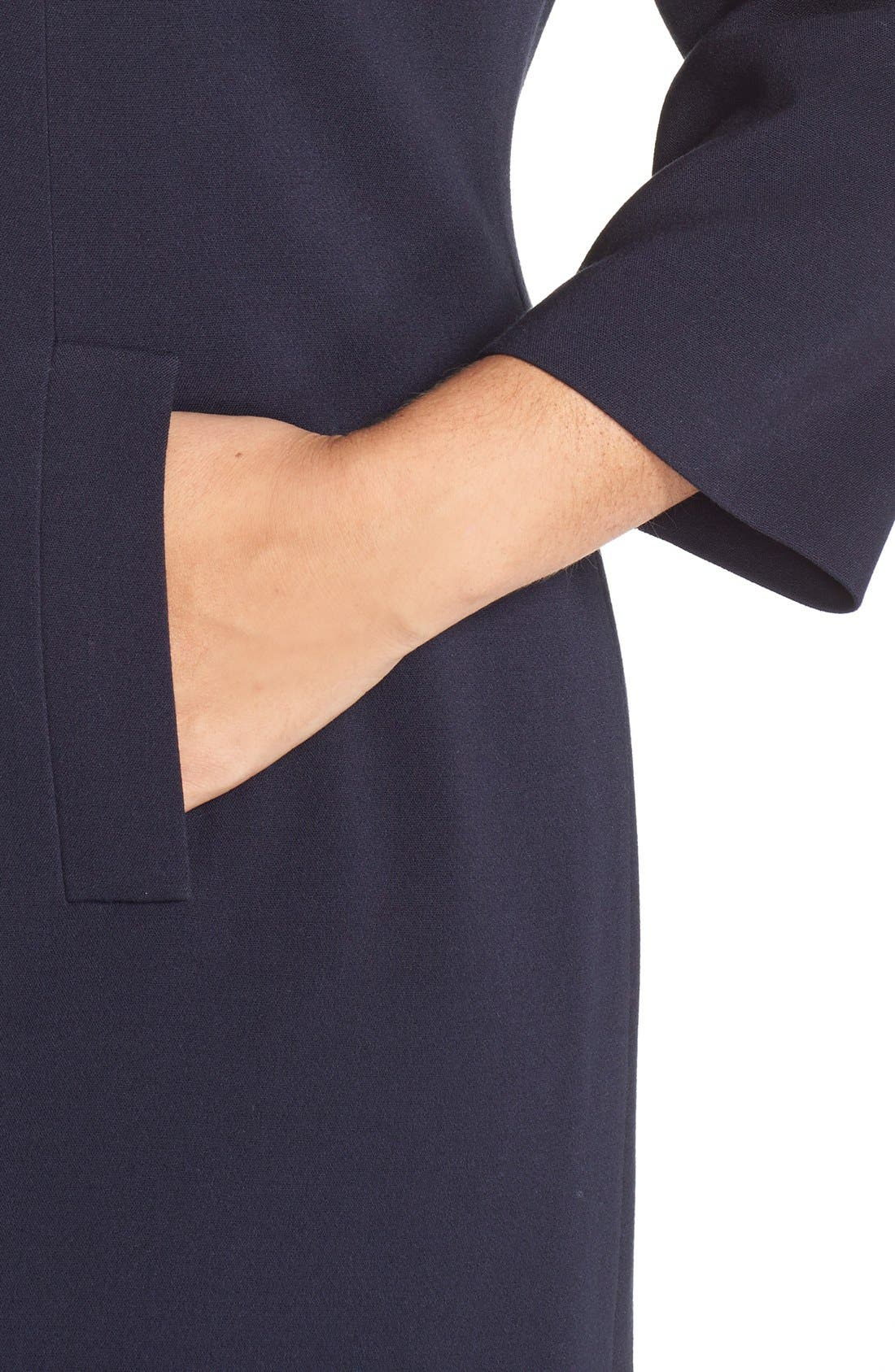 Alternate Image 5  - Eliza J Pocket Detail Shift Dress (Plus Size)