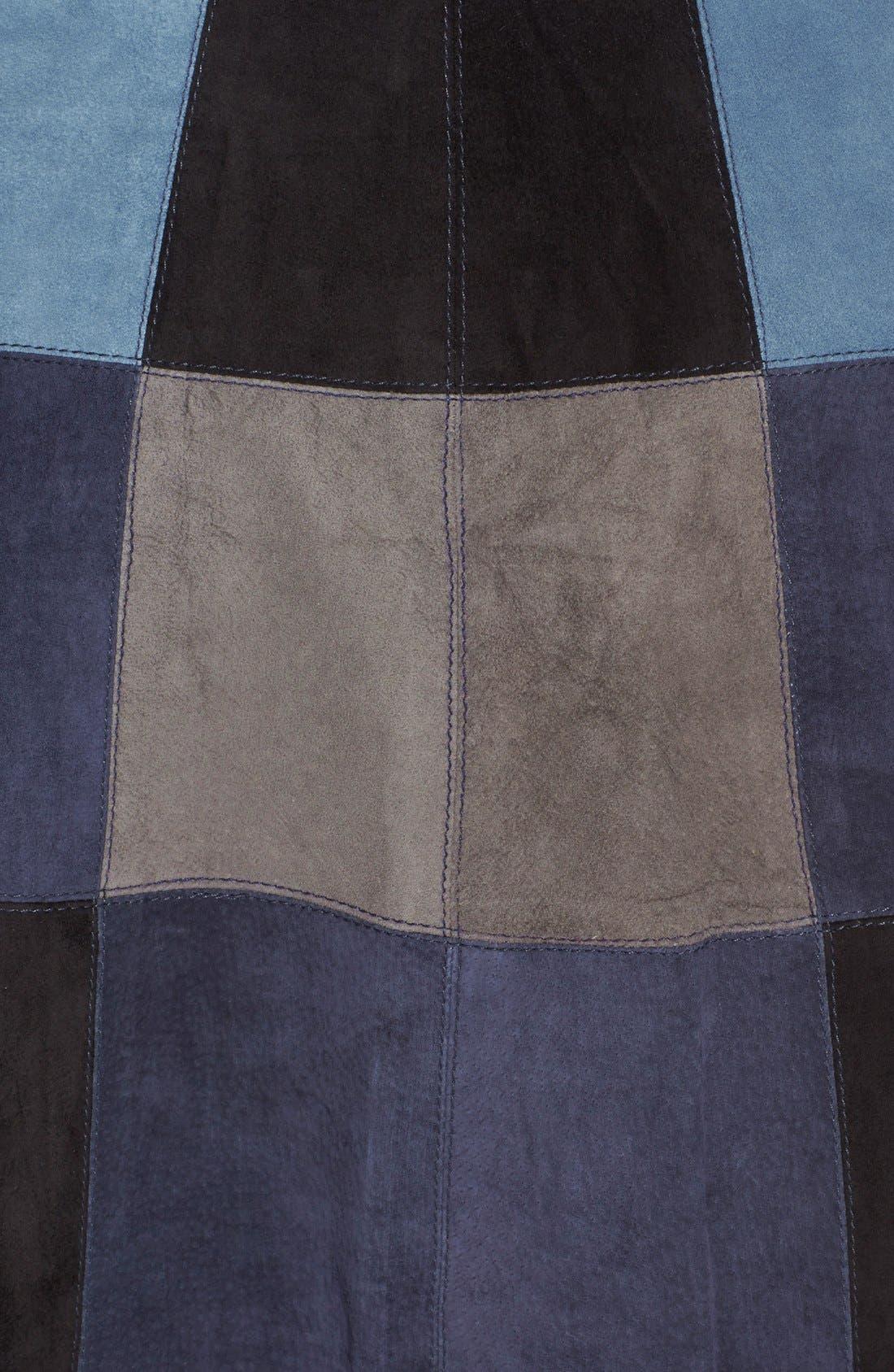 Alternate Image 3  - Sea Patchwork Suede Skirt