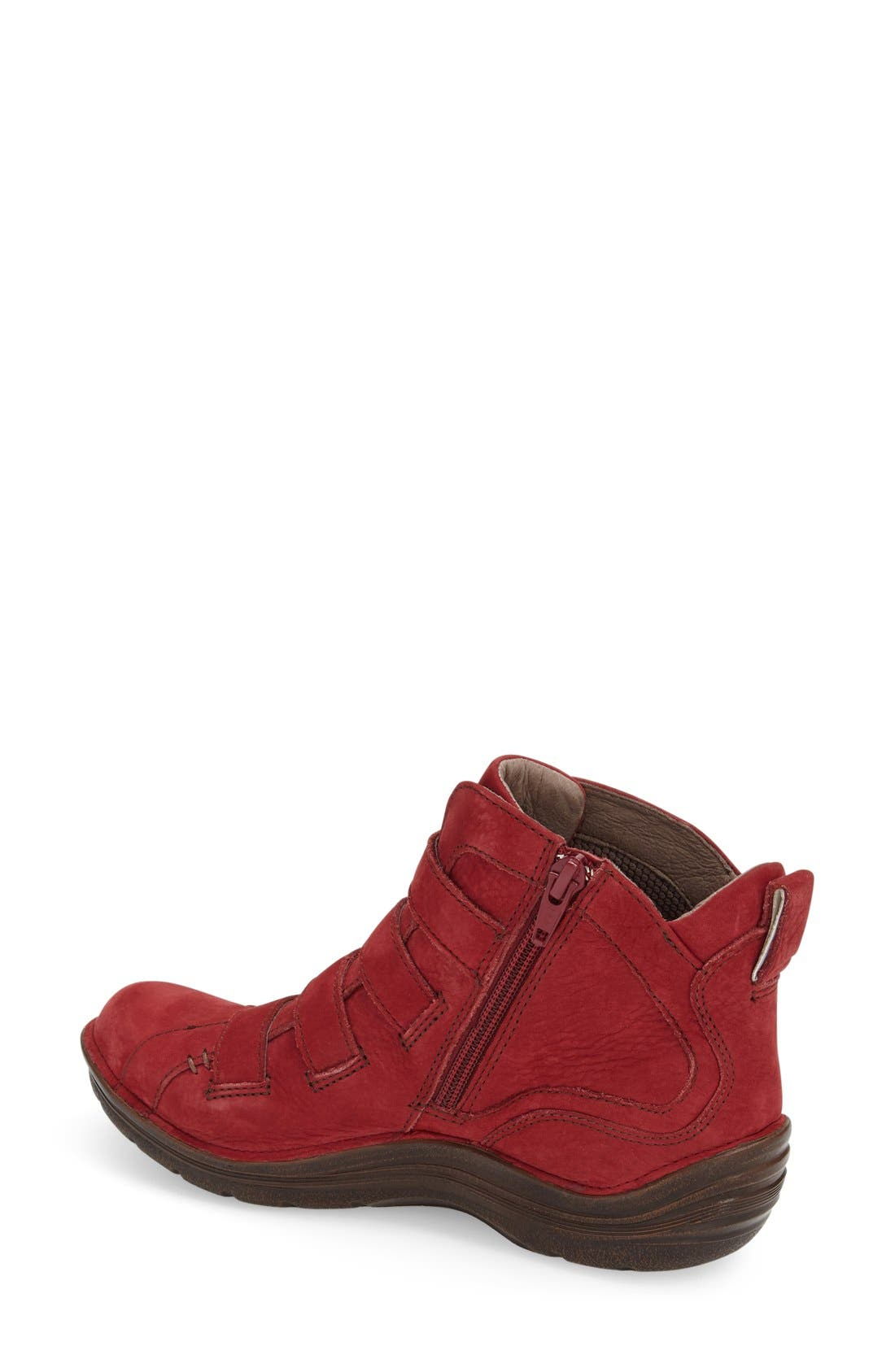 'Orion' Bootie,                             Alternate thumbnail 2, color,                             Red Leather