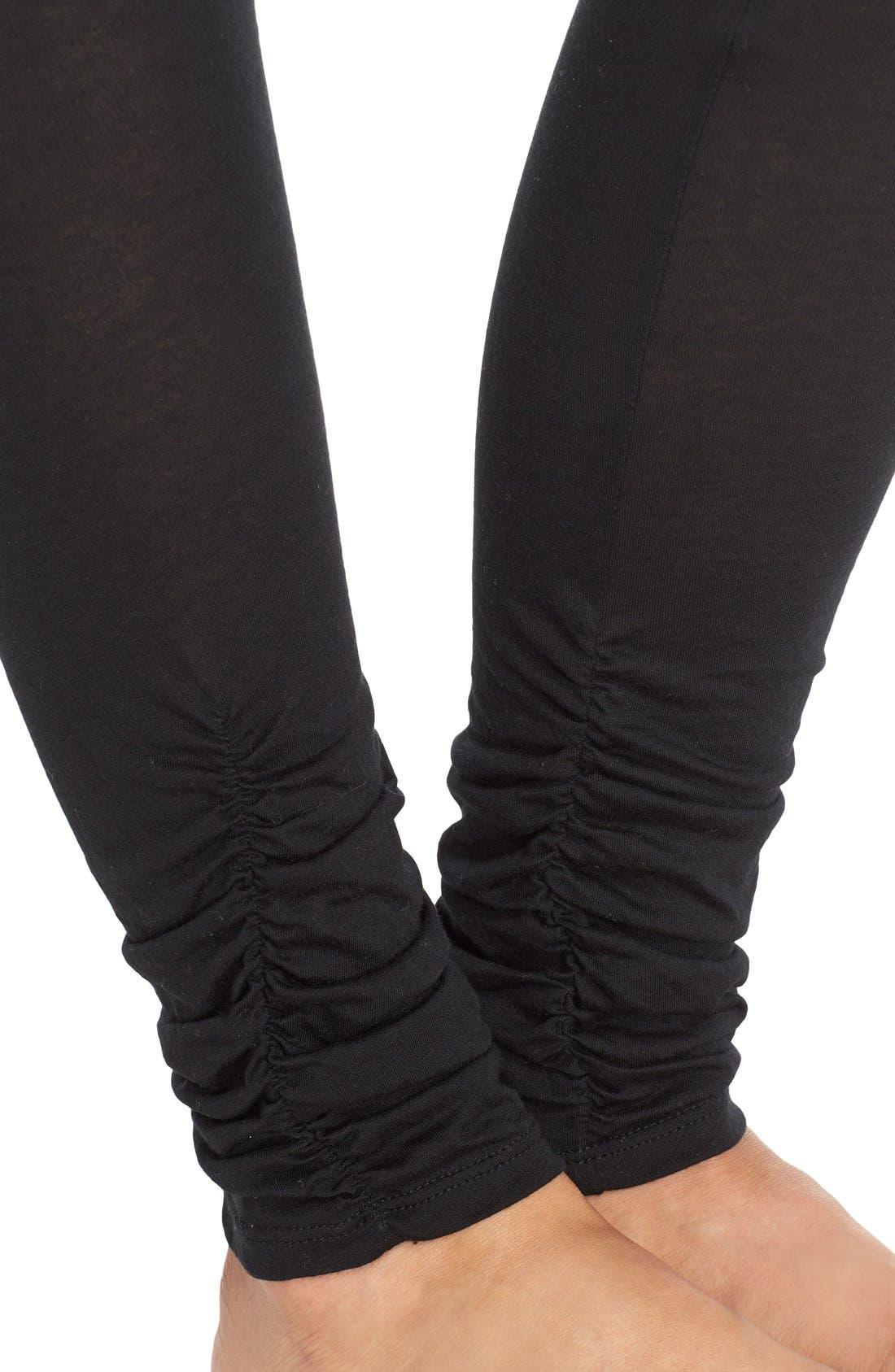 Alternate Image 4  - Yummie Shirred Cuff Leggings