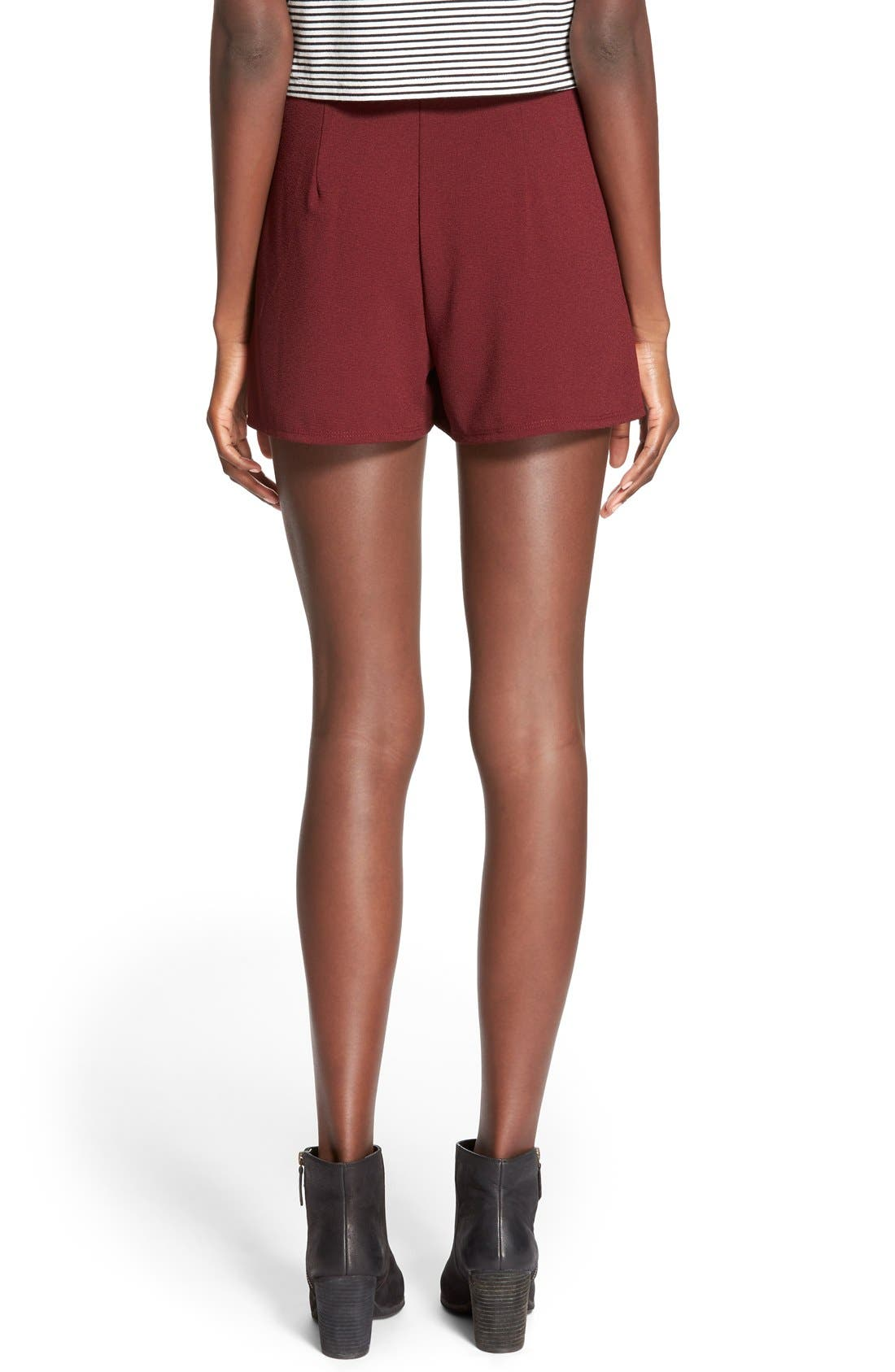 Alternate Image 2  - Lily White Pleat Front Knit Shorts