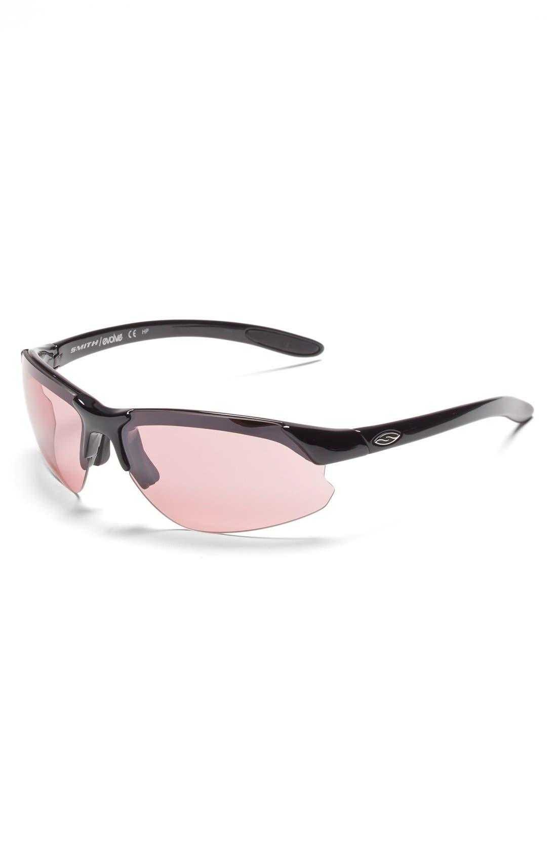 'Parallel DMax' 65mm Polarized Sunglasses,                             Alternate thumbnail 3, color,                             Black/ Polar Grey/ Clear