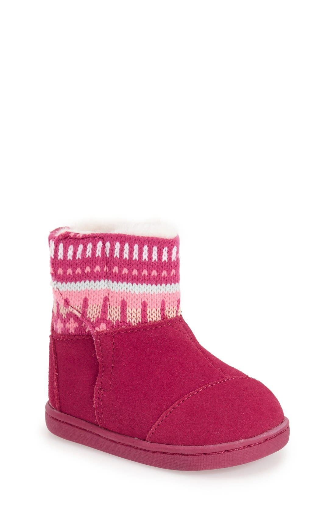TOMS 'Fair Isle - Nepal' Boot (Baby, Walker & Toddler) | Nordstrom