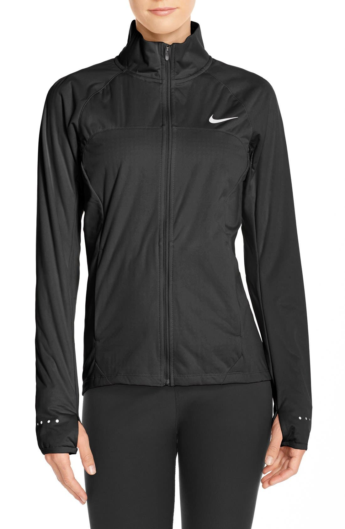 Womens Nike Shield 2.0 Black Running Jacket