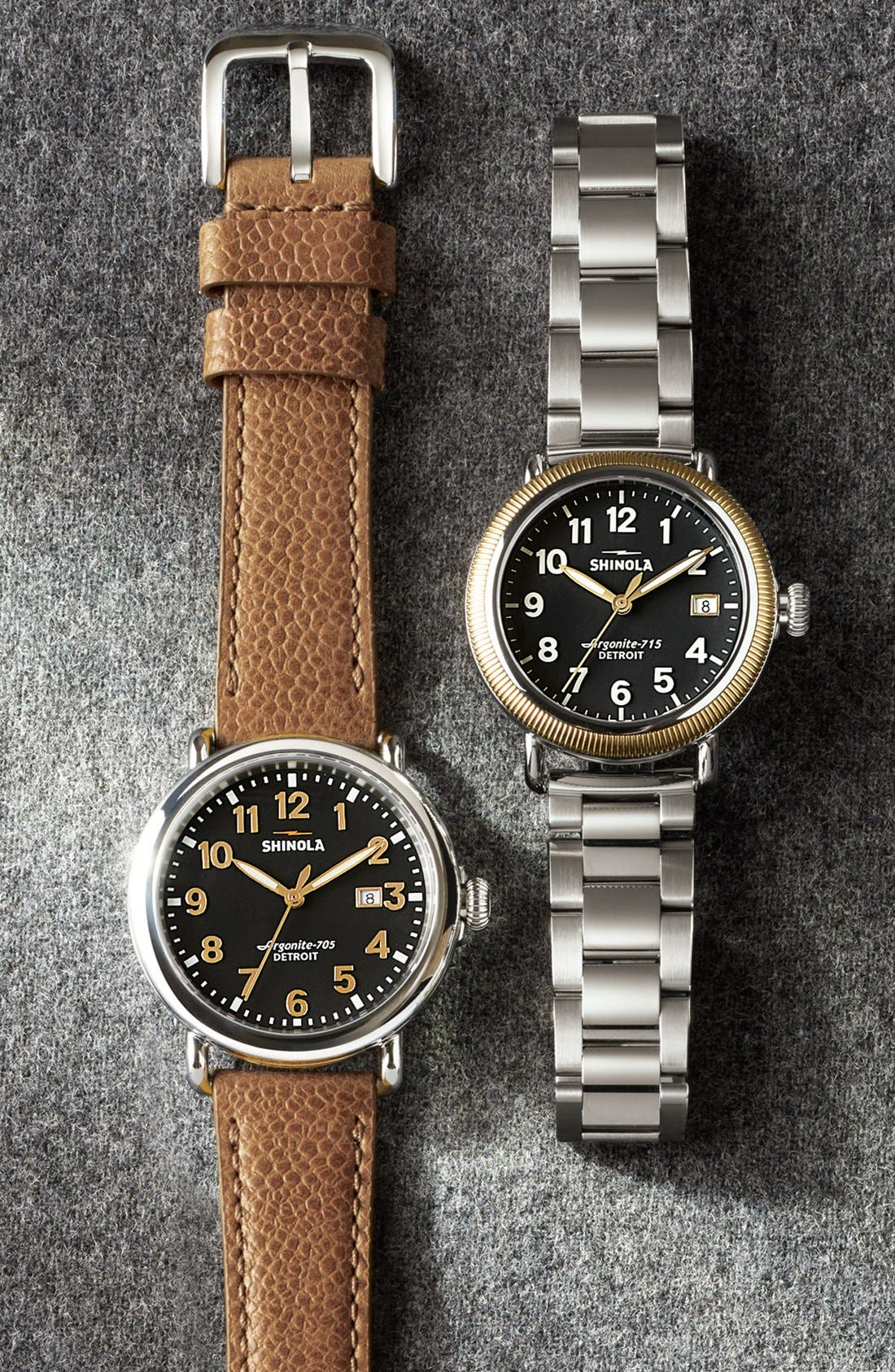Alternate Image 5  - Shinola 'Runwell' Leather Strap Watch, 41mm