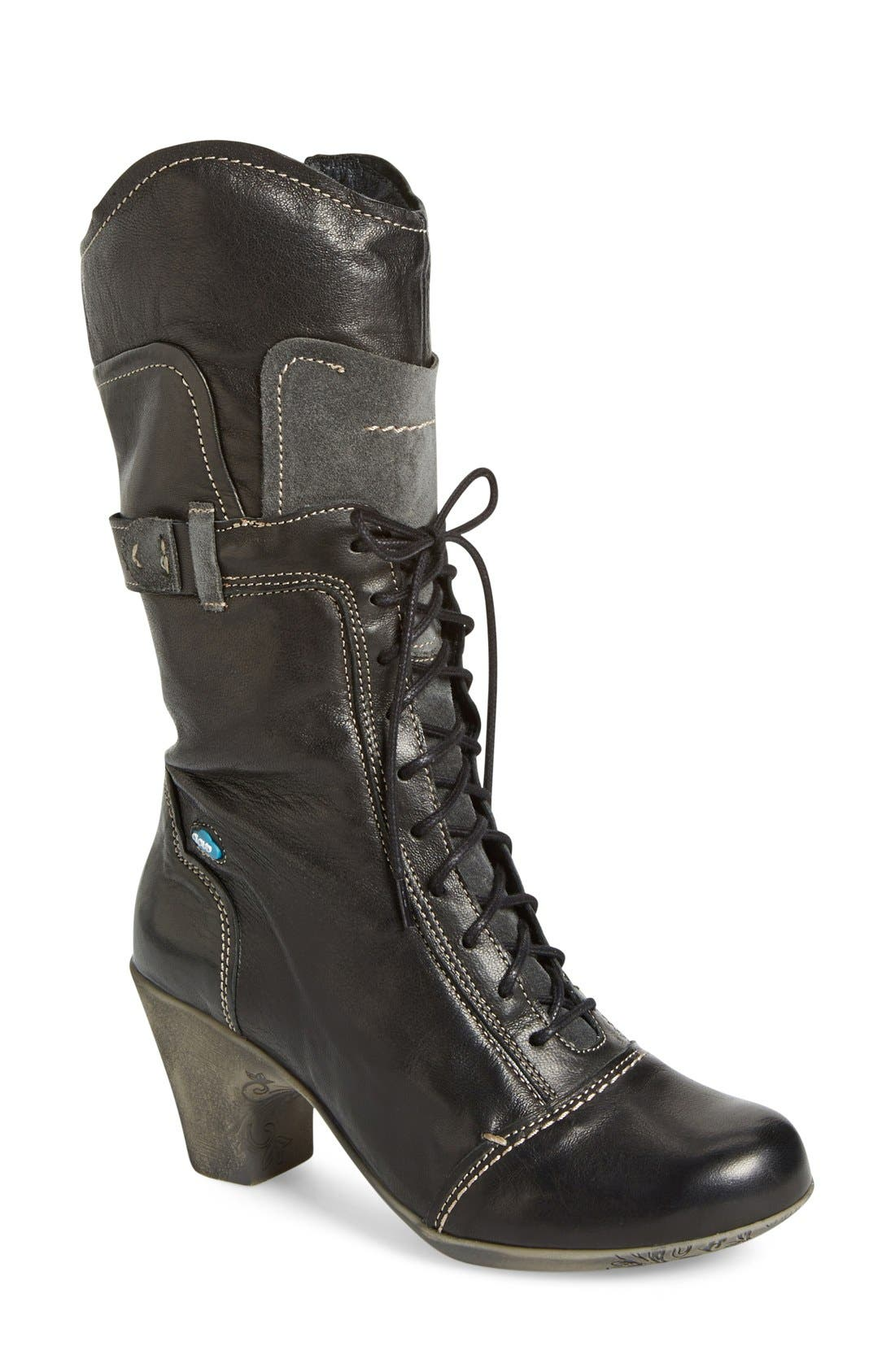 'Judith' Boot,                         Main,                         color, Bordo Leather