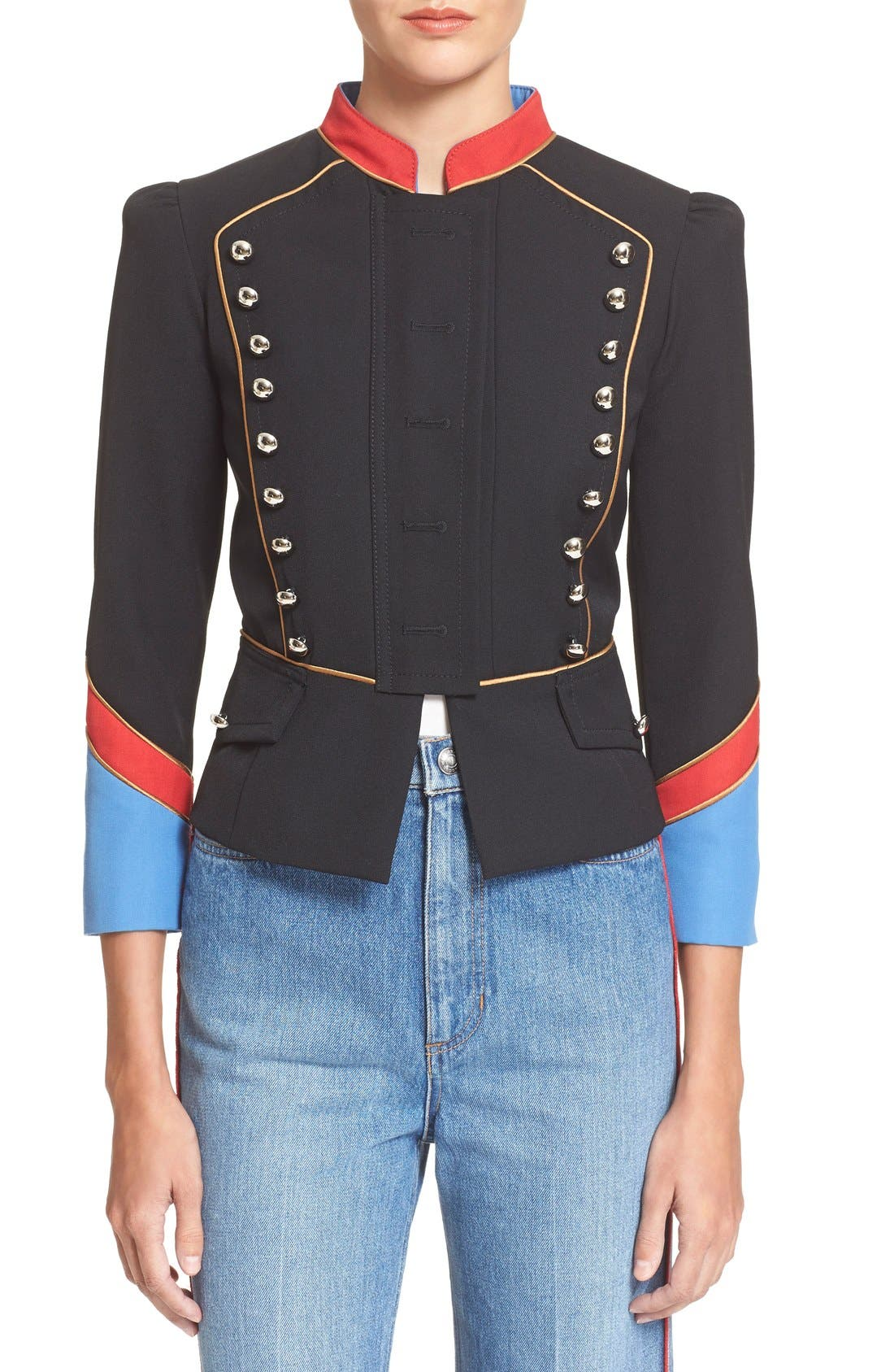 Alternate Image 1 Selected - MARC BY MARC JACOBS Gabardine Military Jacket