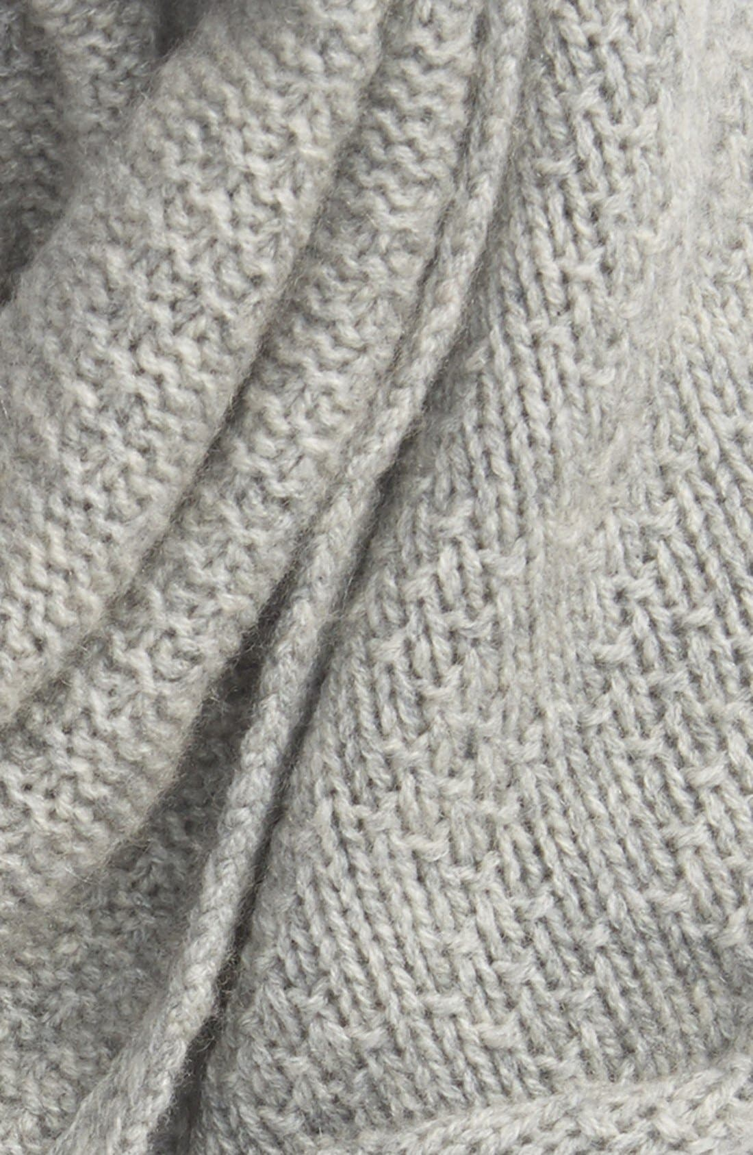 Alternate Image 3  - Halogen® Pointelle Knit Wool & Cashmere Infinity Scarf