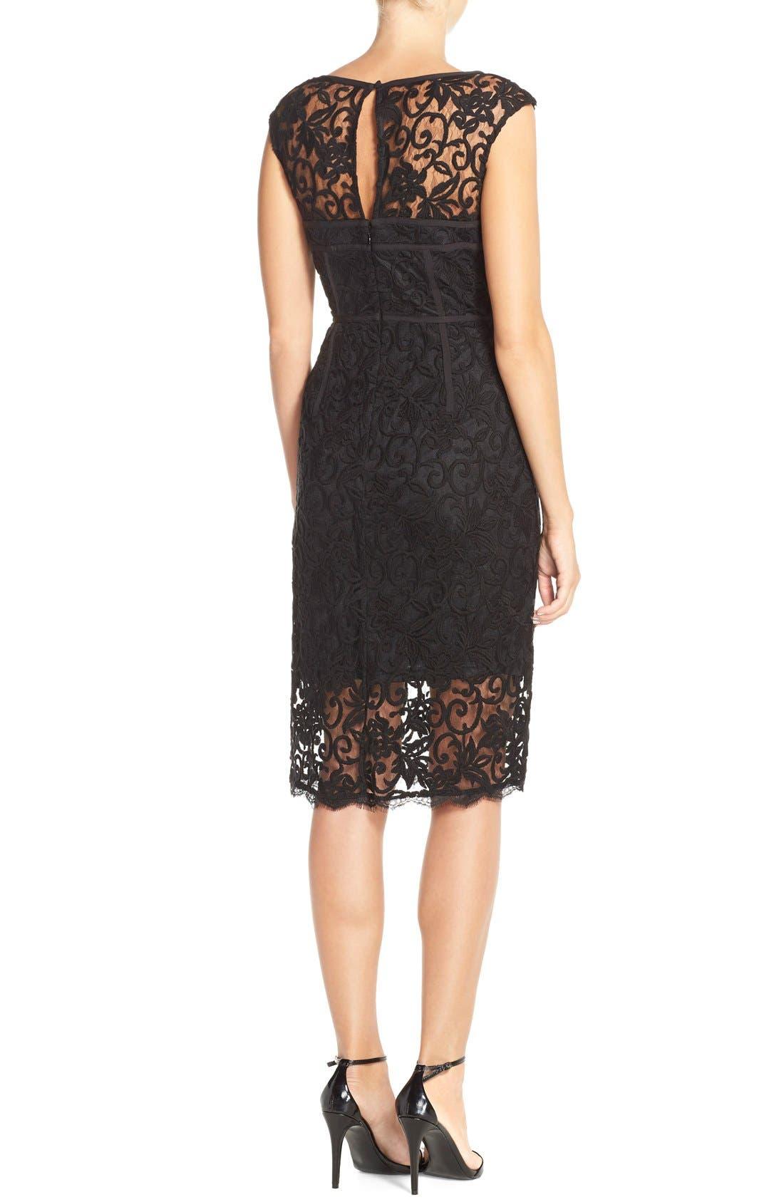 Alternate Image 3  - Adrianna Papell Illusion Lace Sheath Dress
