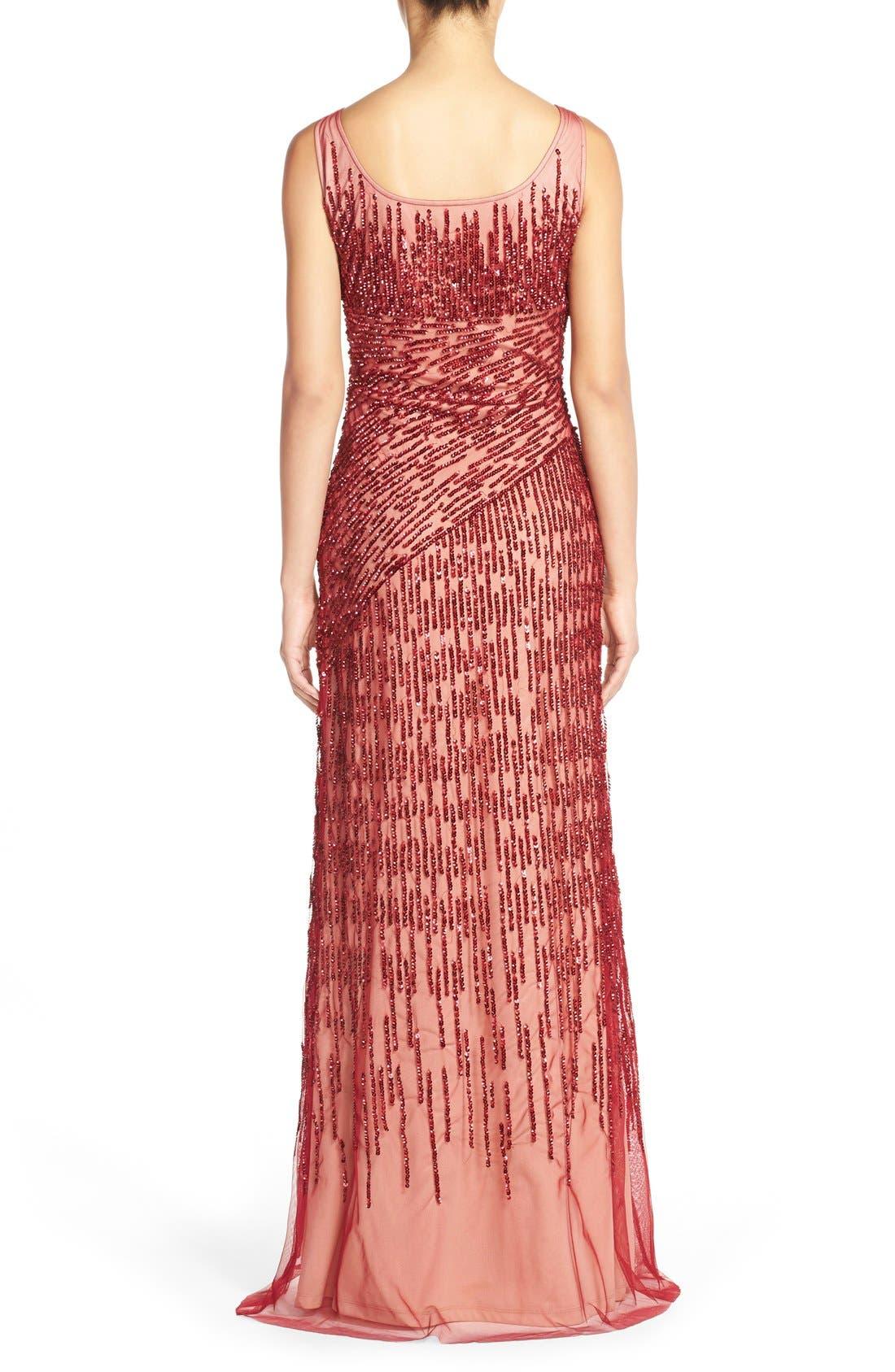 Alternate Image 2  - Adrianna PapellSequin Mesh Gown