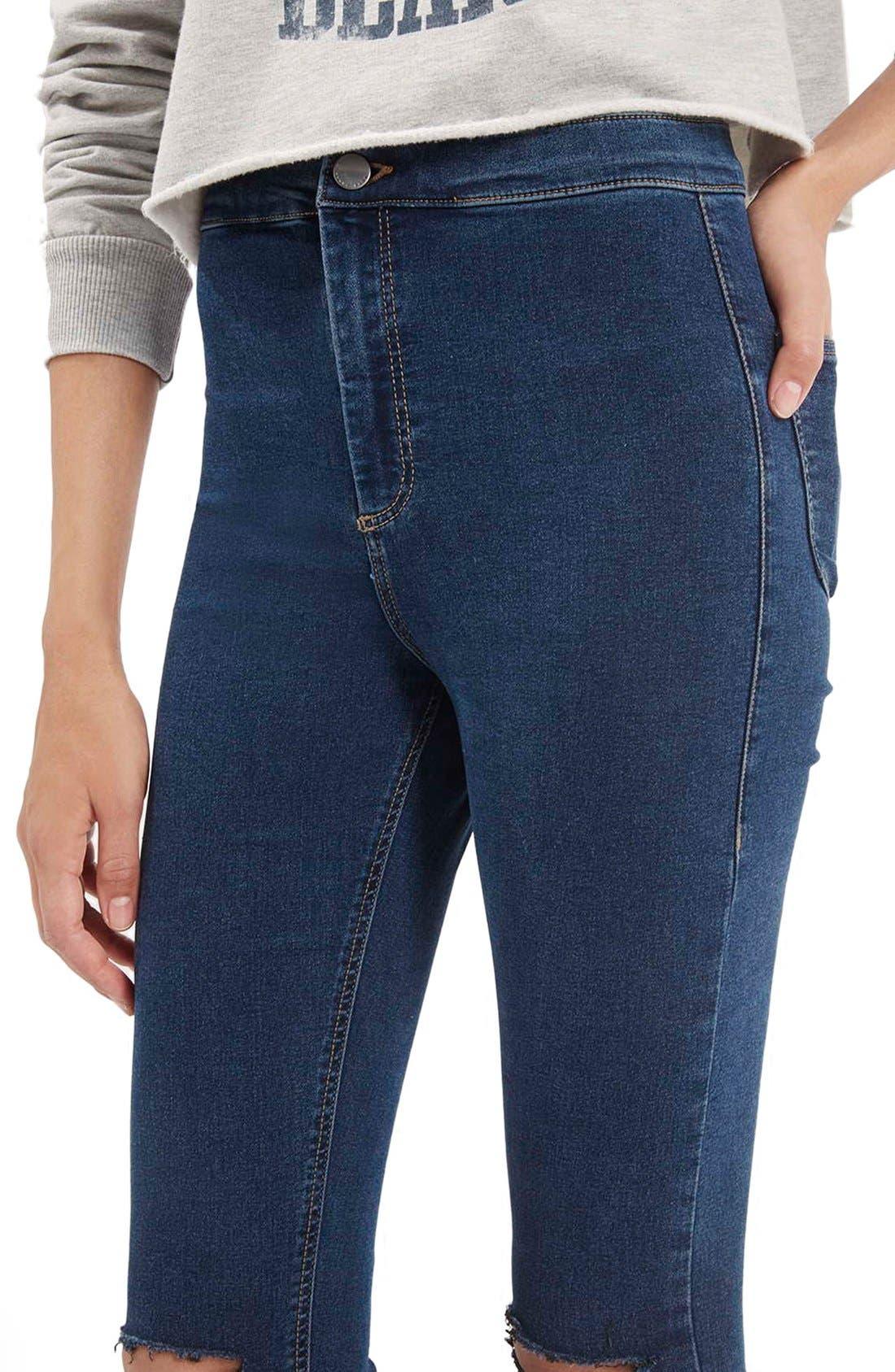 Alternate Image 5  - Topshop Moto'Joni' Ripped High Rise Skinny Jeans (Regular & Short)