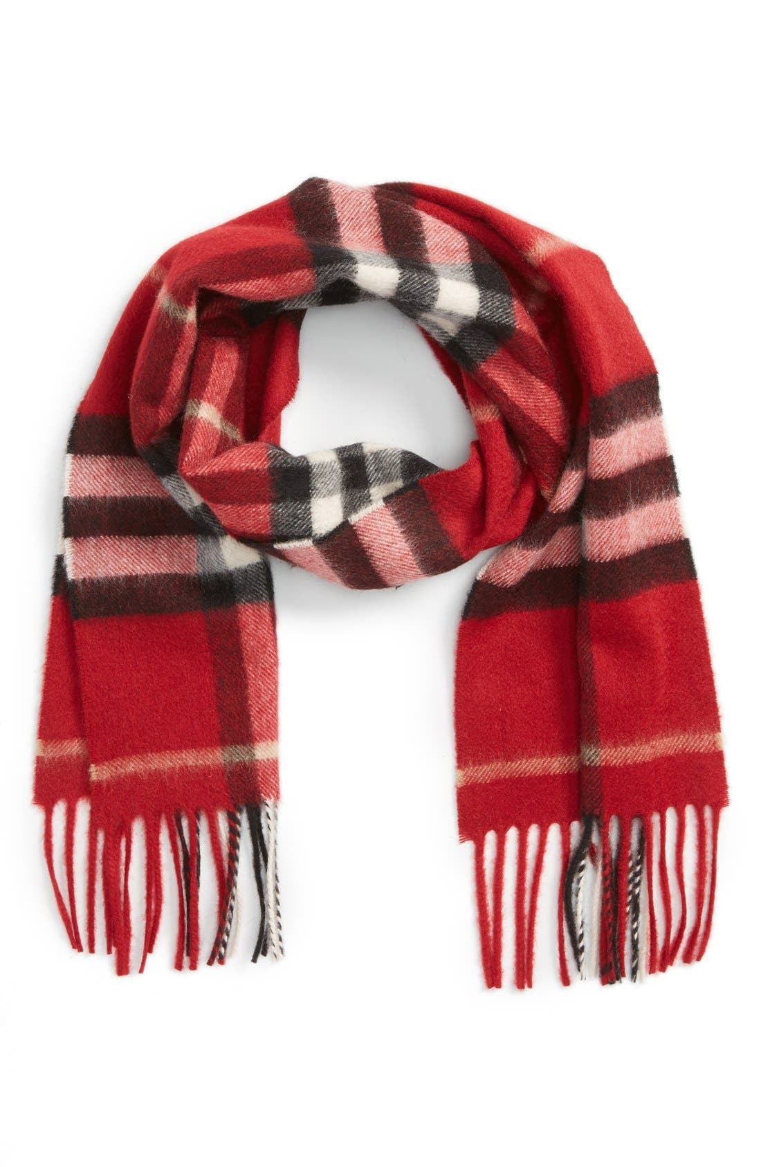 Main Image - Burberry Giant Check Cashmere Scarf (Big Girls)