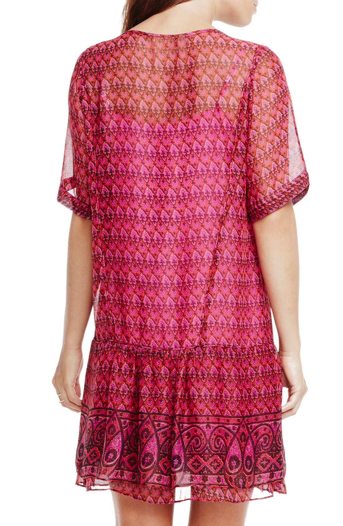 Alternate Image 2  - Two by Vince Camuto Print Drop Waist Dress
