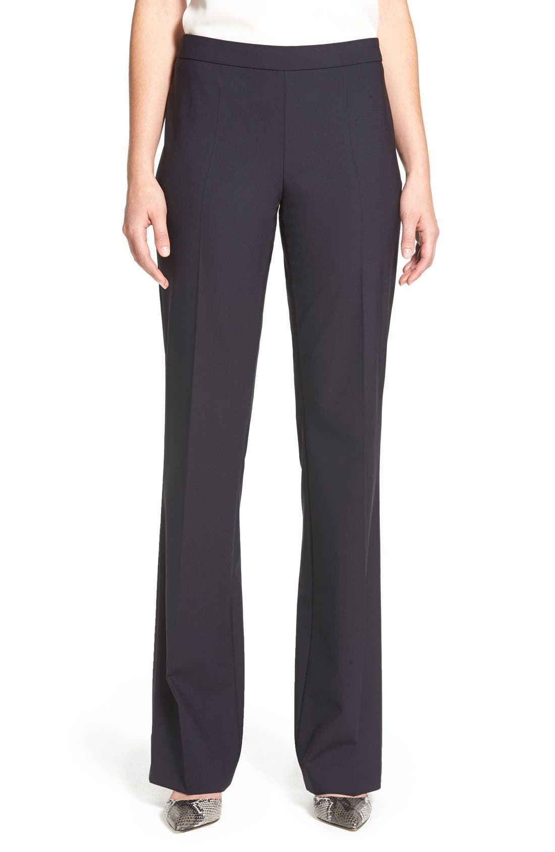 Main Image - BOSS Tulea Bootcut Stretch Wool Suit Trousers (Regular & Petite)
