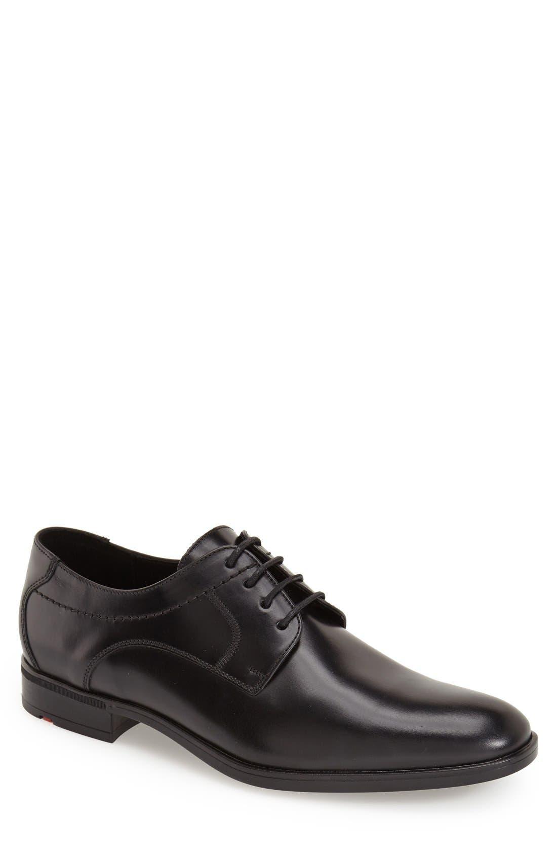 'Gildo' Plain Toe Derby,                             Main thumbnail 1, color,                             Black